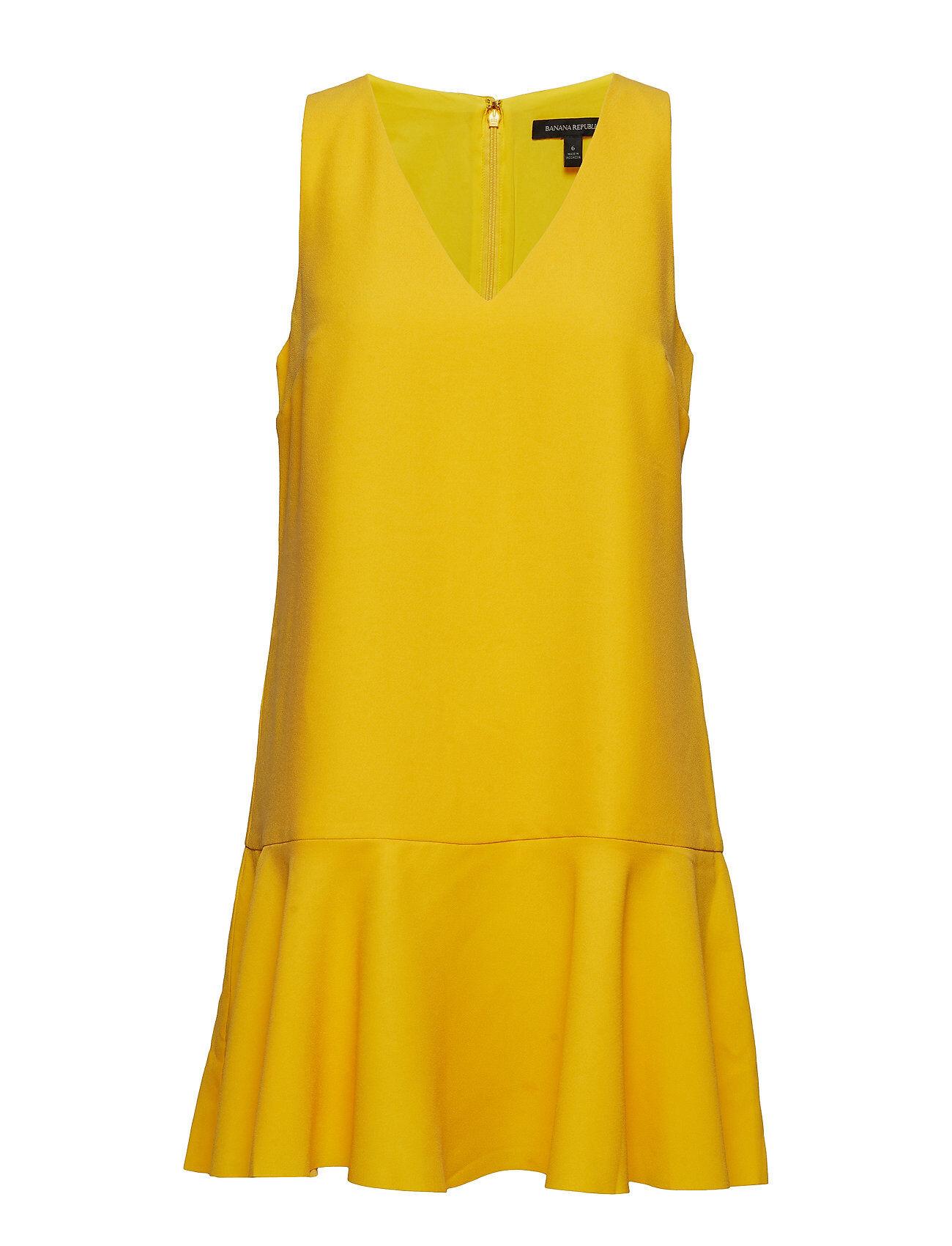 Image of Banana Republic Drop-Waist Shift Dress Lyhyt Mekko Keltainen Banana Republic