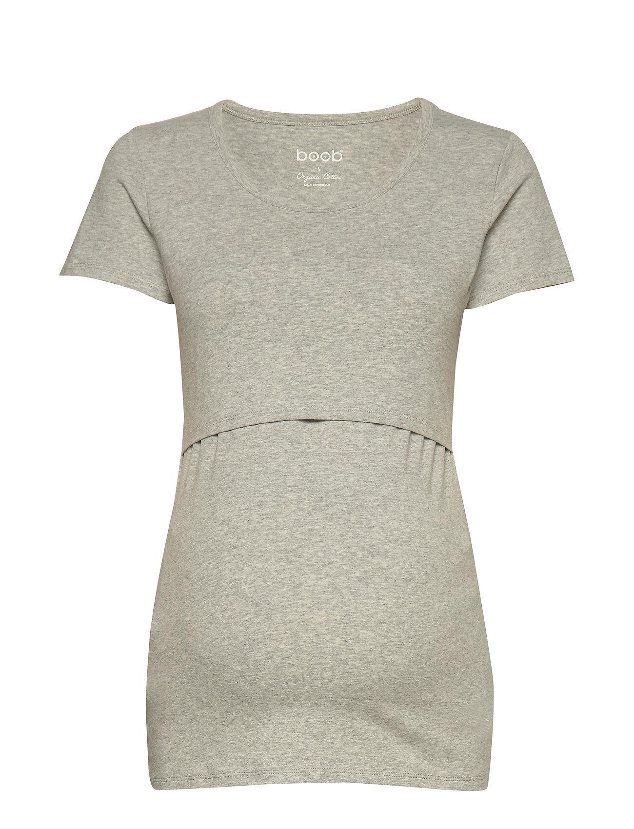 Boob Classic Short-Sleeved Top T-shirts & Tops Short-sleeved Harmaa Boob