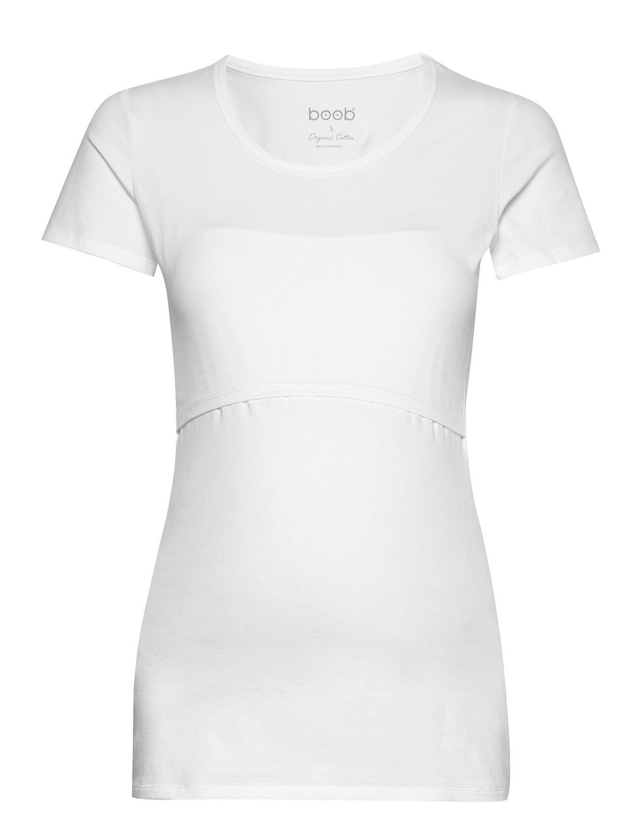 Boob Classic Short-Sleeved Top T-shirts & Tops Short-sleeved Valkoinen Boob
