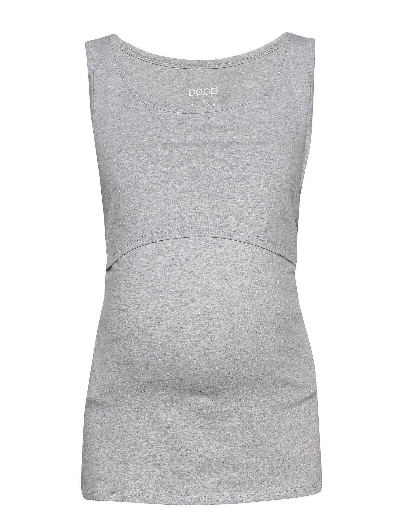 Boob Classic Tank Top T-shirts & Tops Sleeveless Harmaa Boob