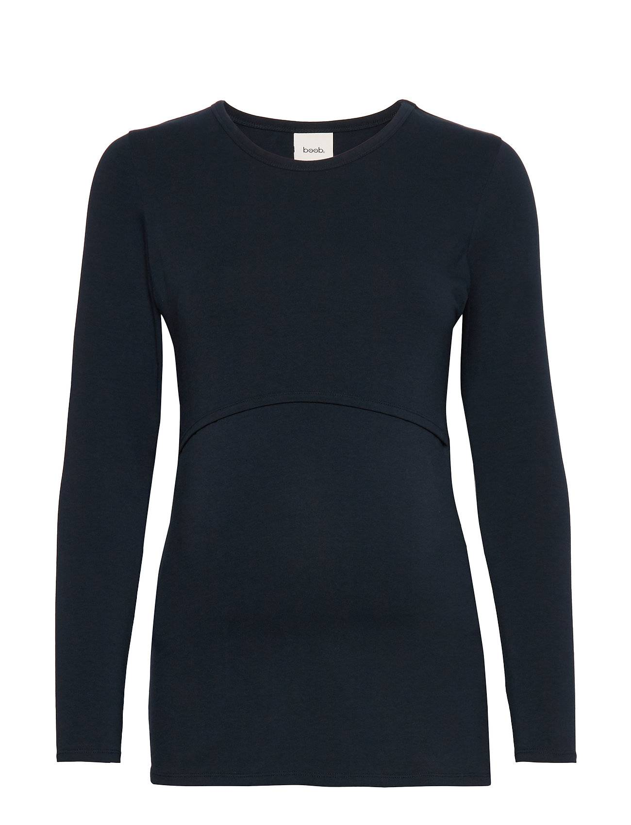 Boob Classic Long-Sleeved Top T-shirts & Tops Long-sleeved Sininen Boob