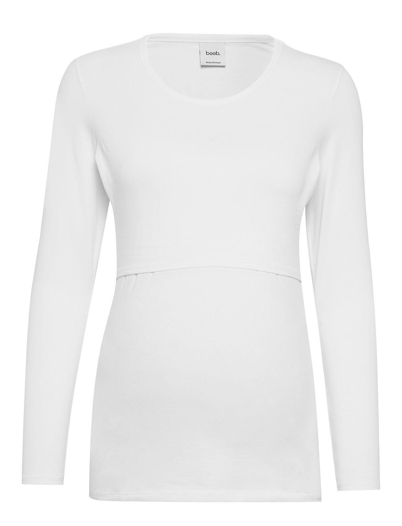 Boob Classic Long-Sleeved Top T-shirts & Tops Long-sleeved Valkoinen Boob