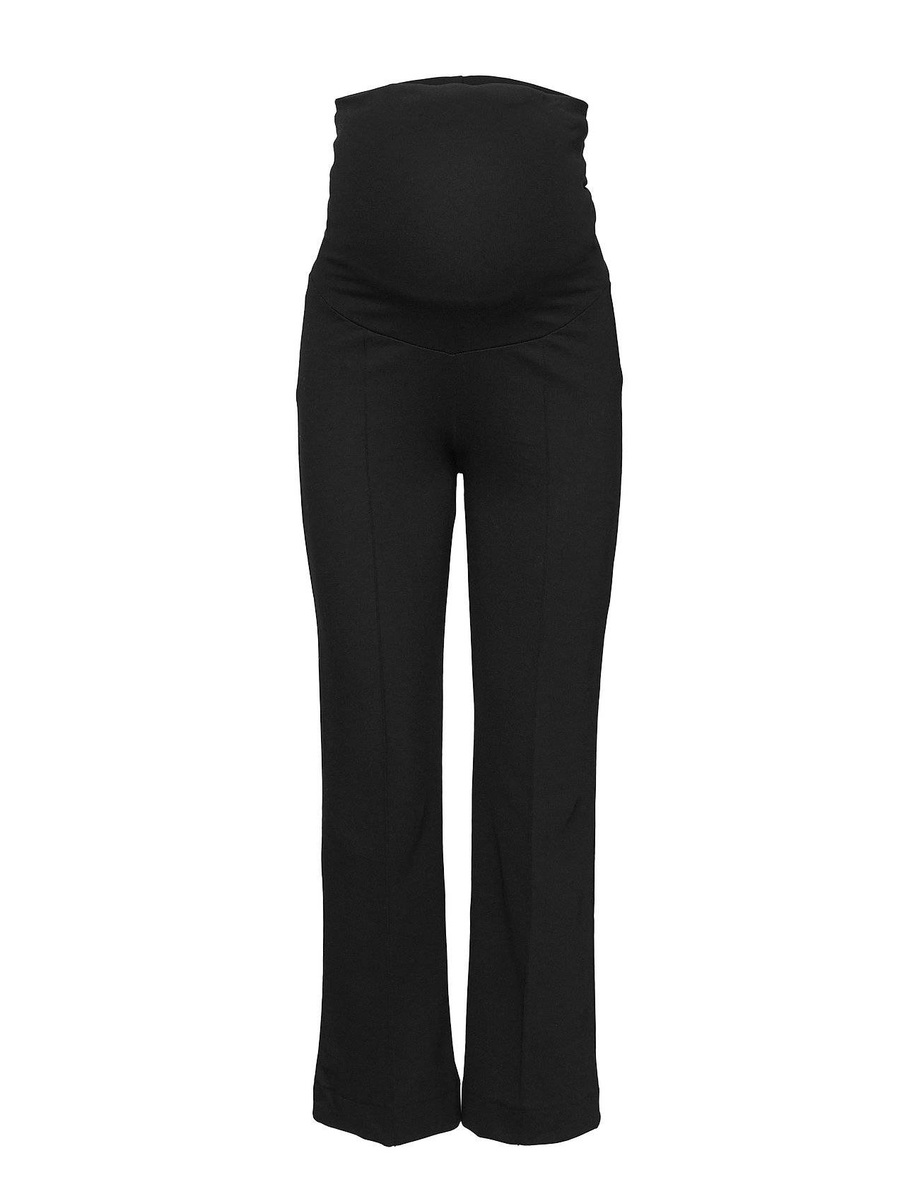 Boob Once-On-Never-Off Cropped Pants Leveälahkeiset Housut Musta Boob