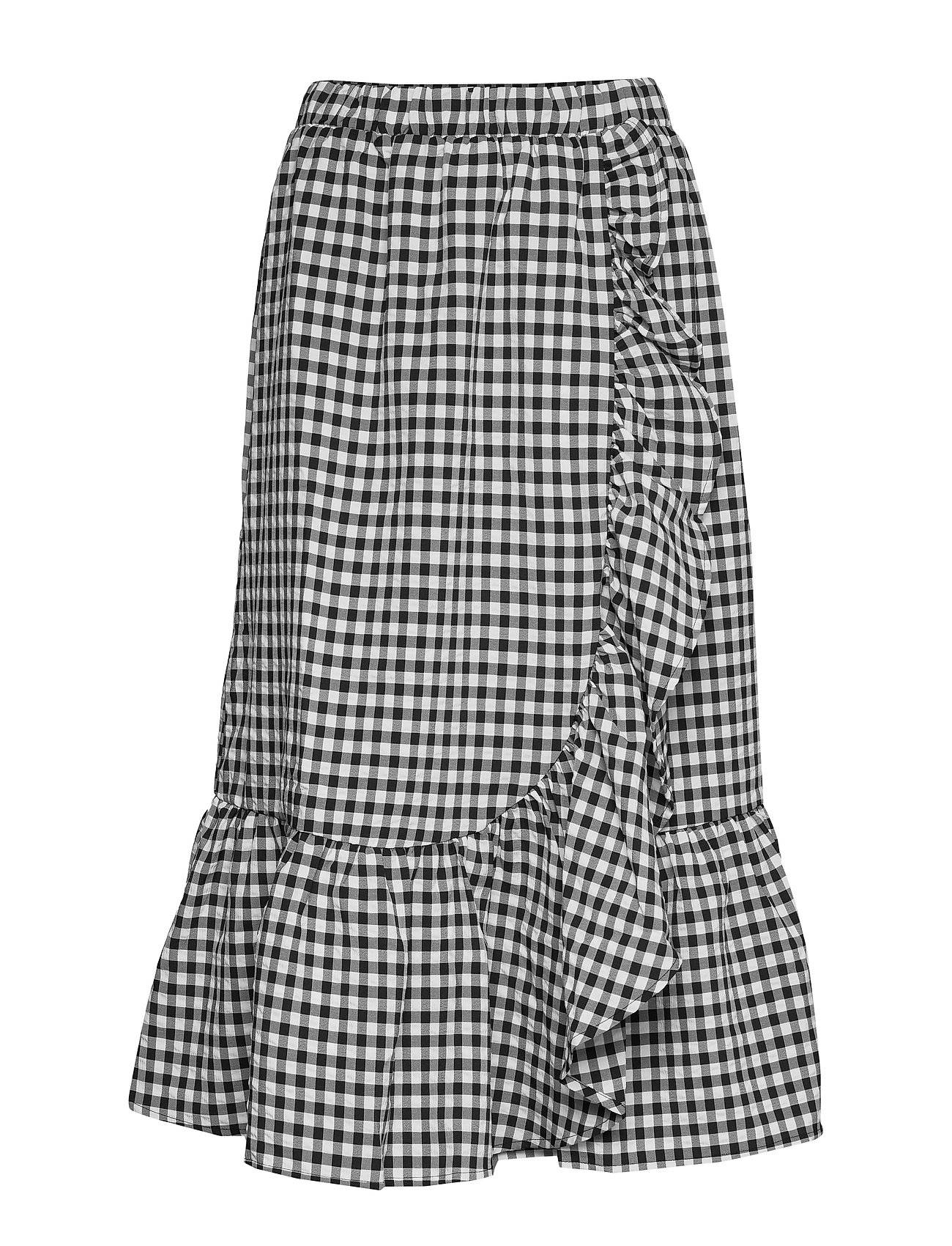 Bruuns Bazaar Seer Jessie Skirt Polvipituinen Hame Musta Bruuns Bazaar