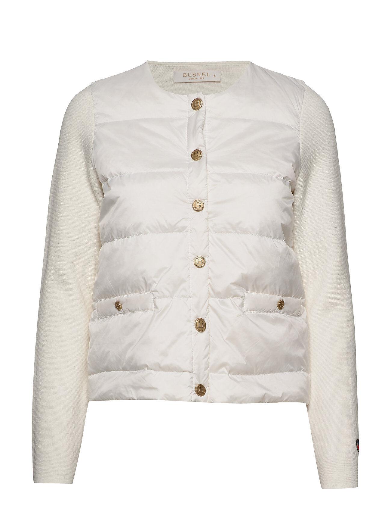 BUSNEL Inella Down Jacket Vuorillinen Takki Topattu Takki Valkoinen BUSNEL