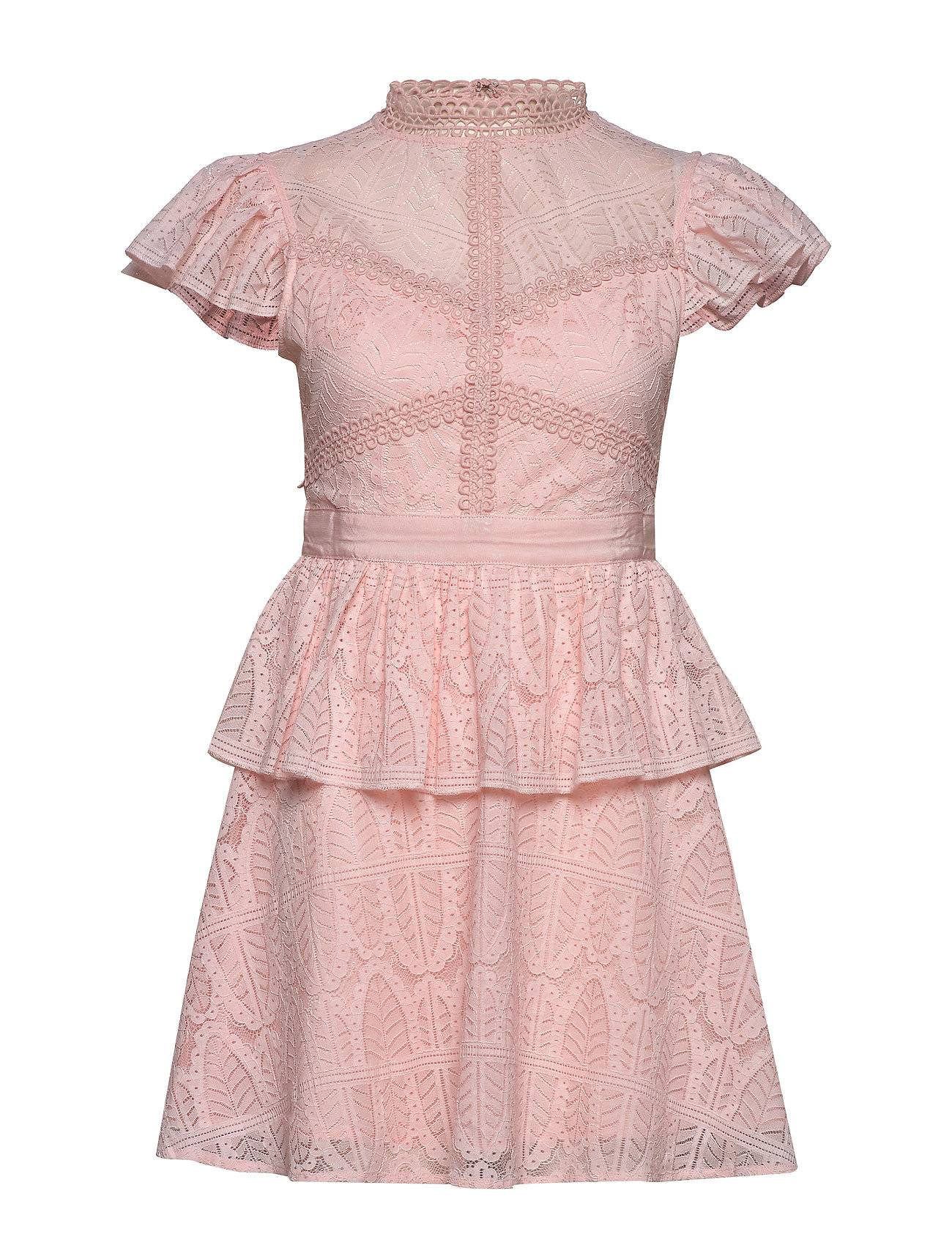 By Malina Grace Dress Lyhyt Mekko Vaaleanpunainen By Malina