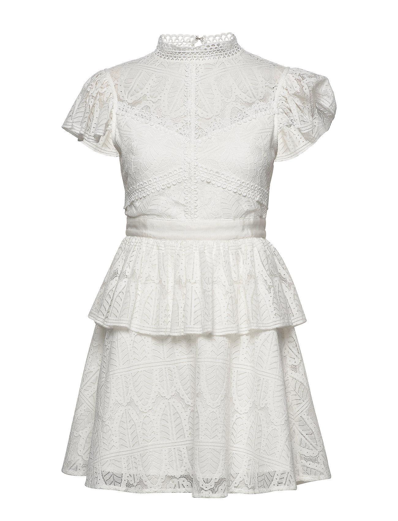 By Malina Grace Dress Lyhyt Mekko Valkoinen By Malina