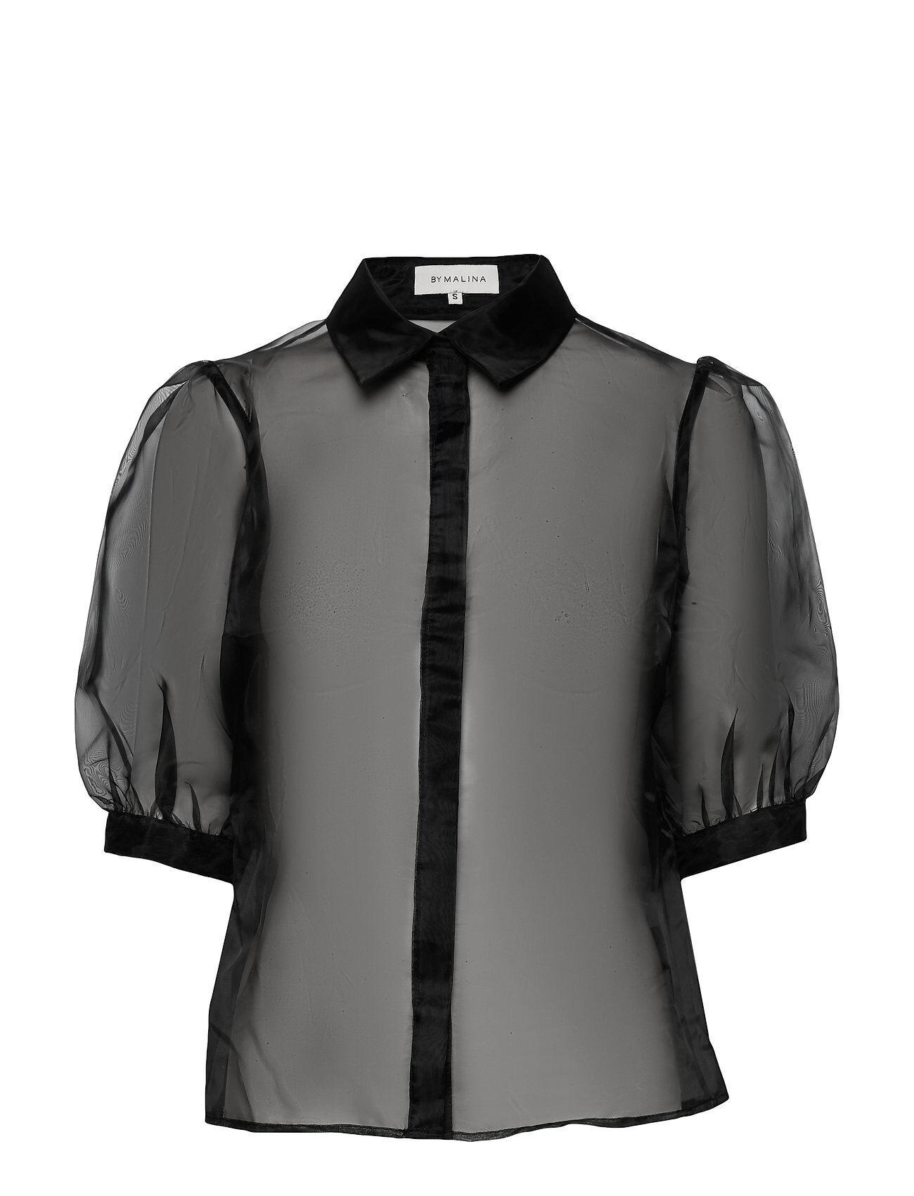 By Malina Neva Blouse Blouses Short-sleeved Musta By Malina