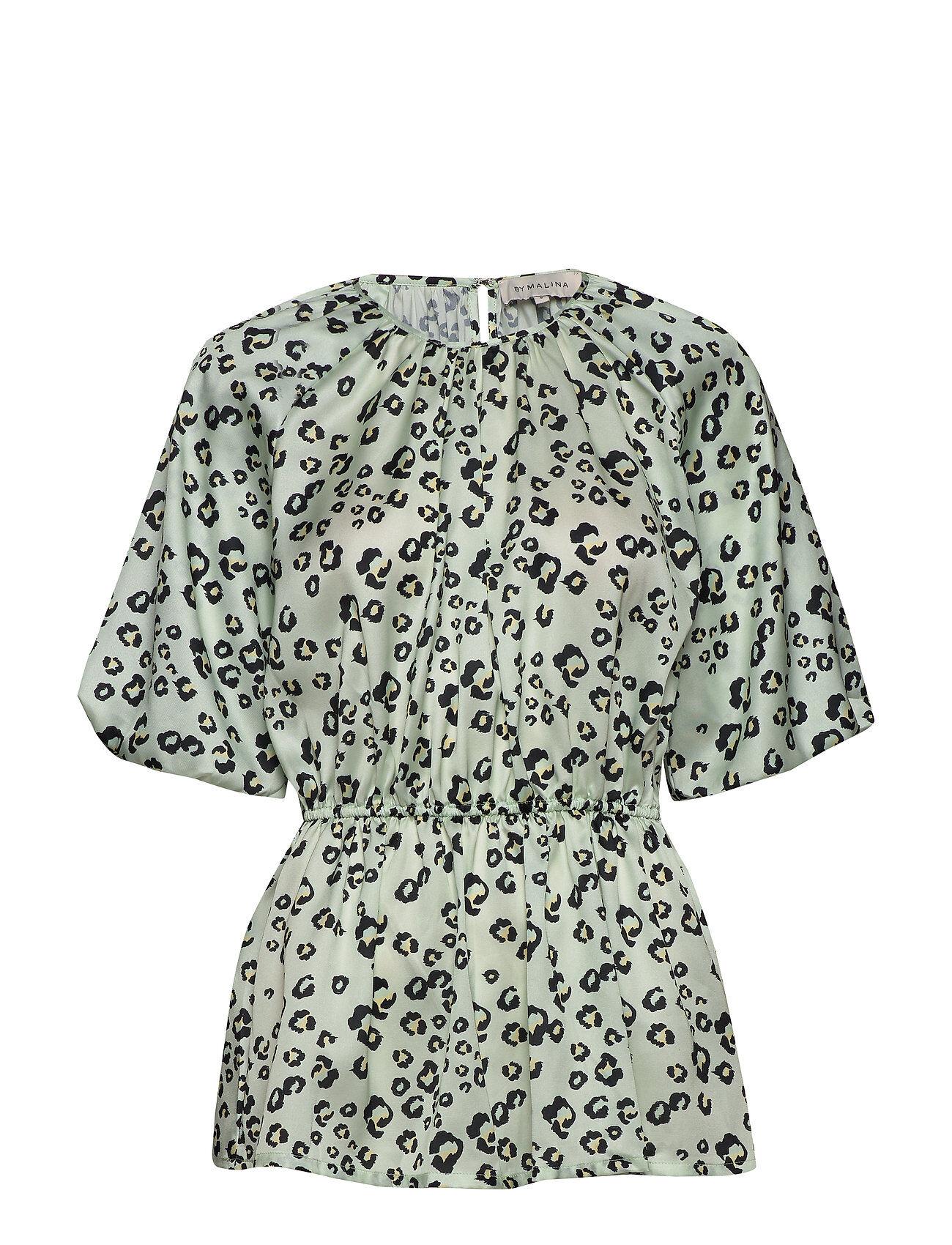 By Malina Mina Blouse Blouses Short-sleeved Vihreä By Malina