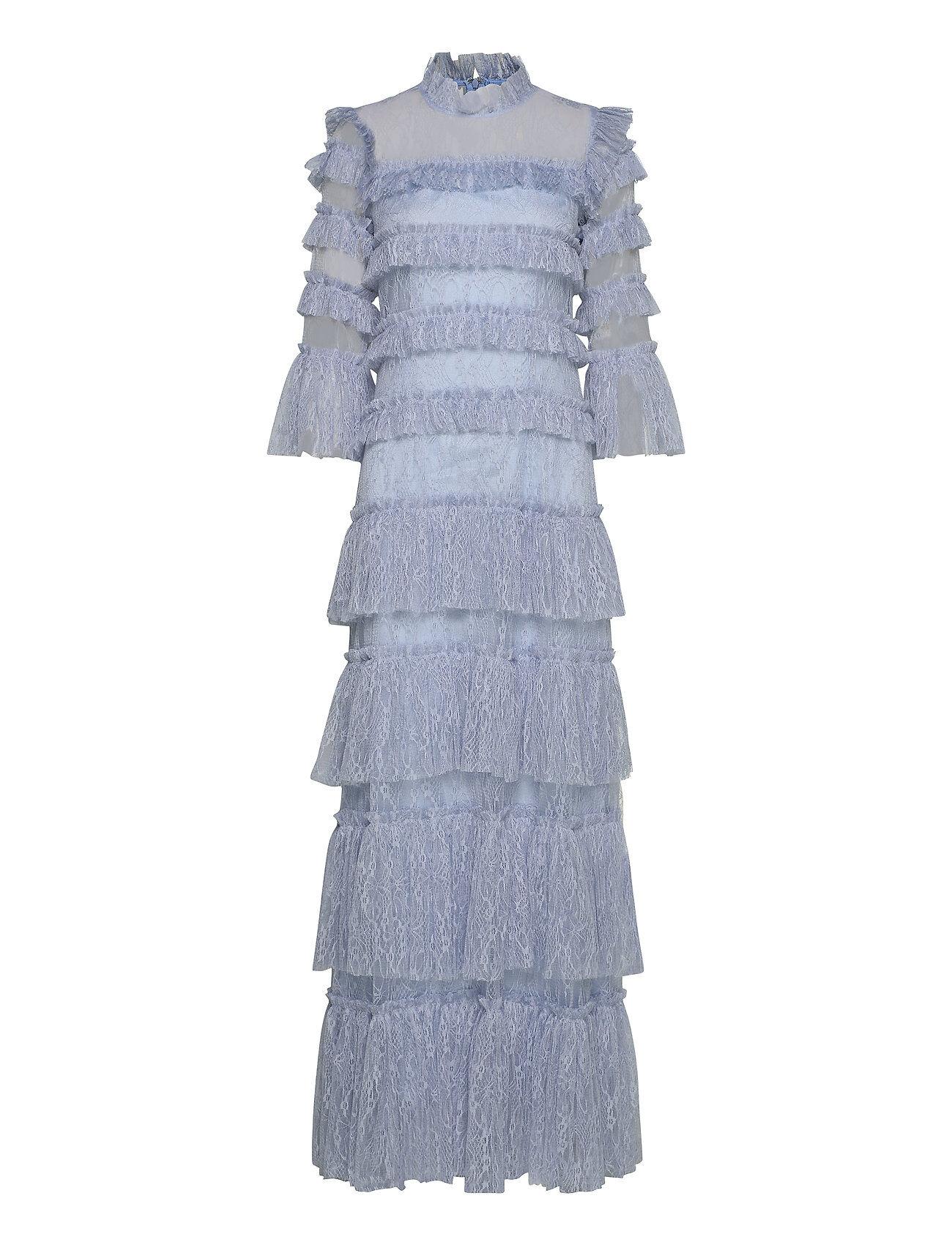 By Malina Carmine Maxi Dress Maksimekko Juhlamekko Sininen By Malina