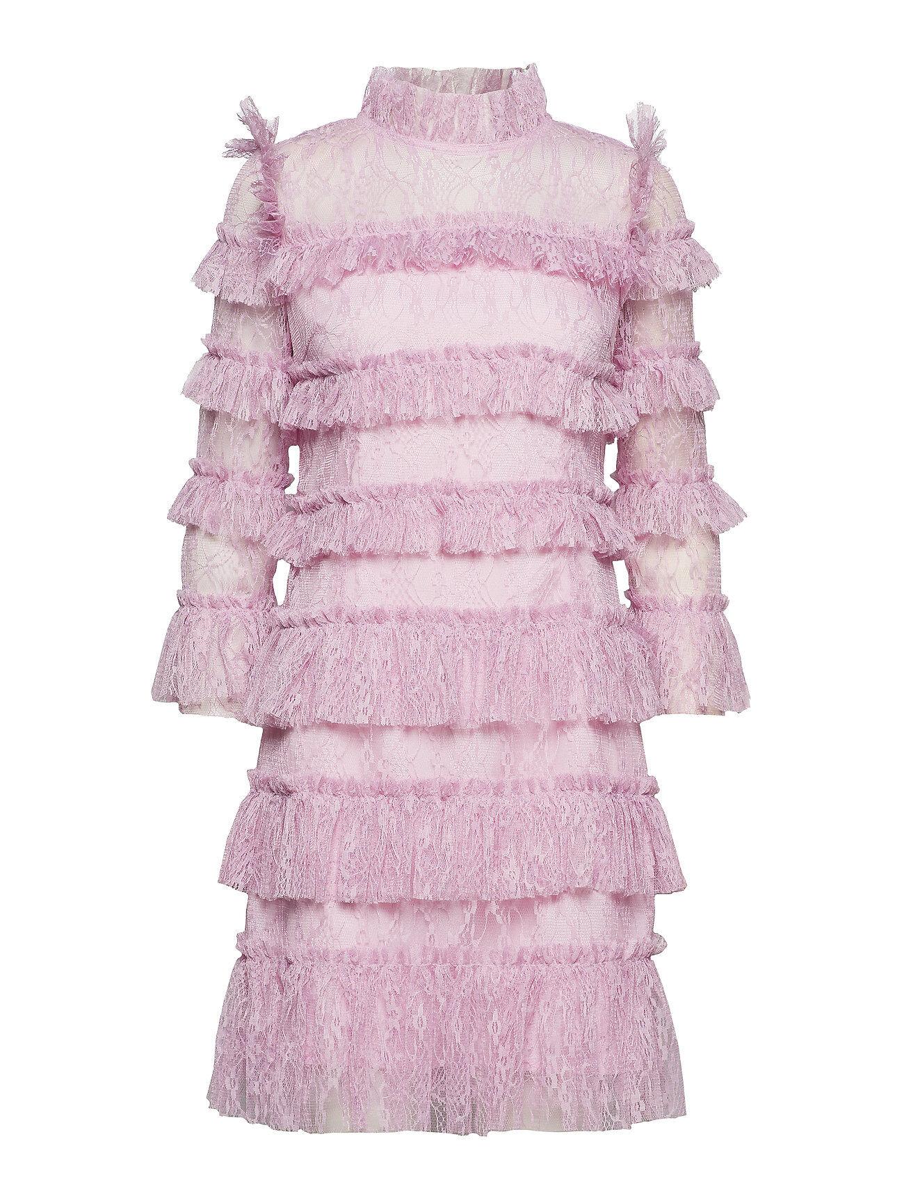 By Malina Carmine Mini Dress Lyhyt Mekko Vaaleanpunainen By Malina