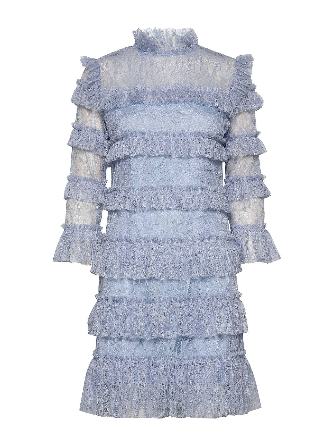 By Malina Carmine Mini Dress Lyhyt Mekko Sininen By Malina