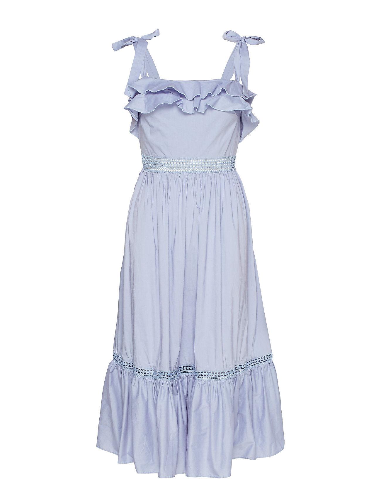 By Malina Jeanni Dress Polvipituinen Mekko Sininen By Malina