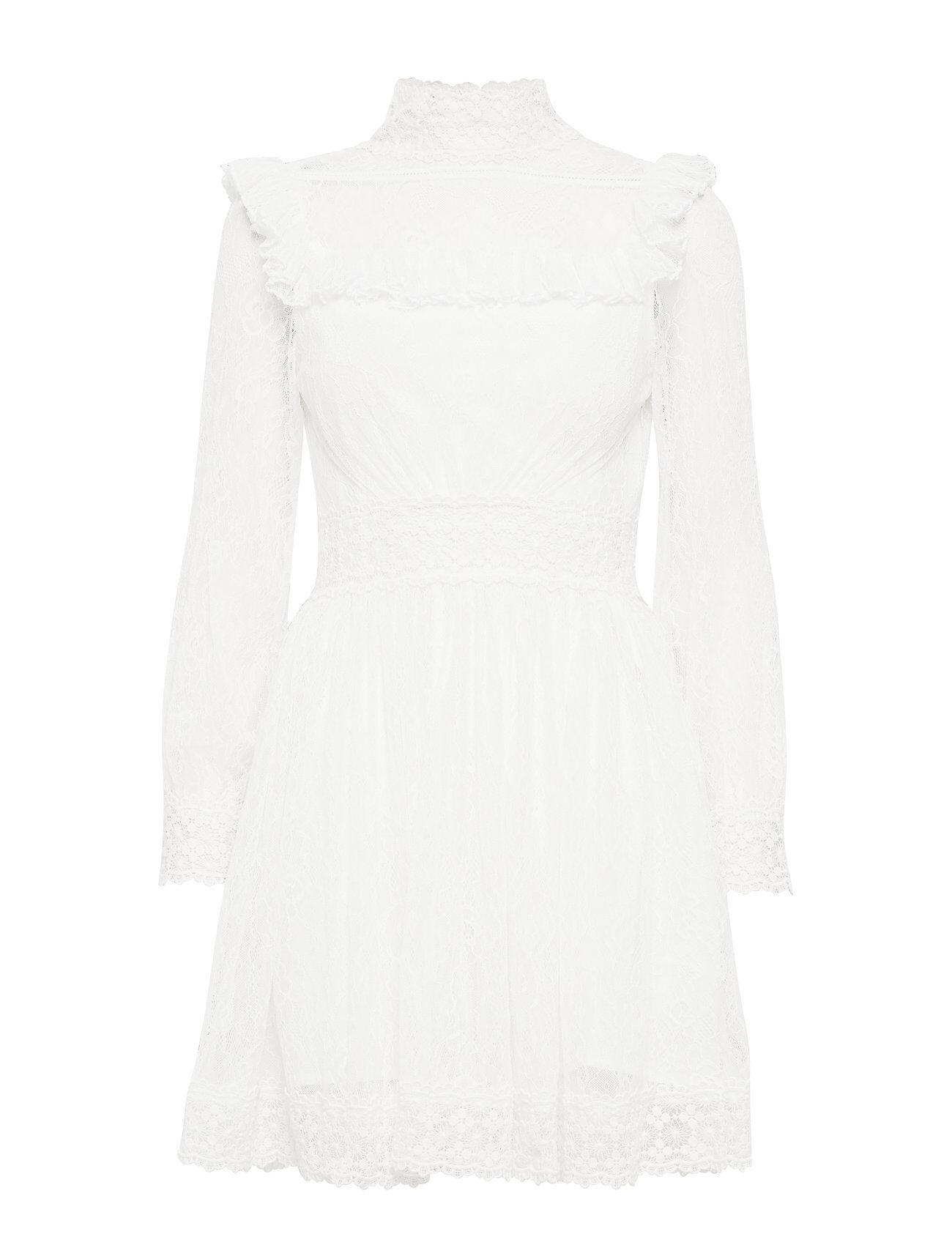 By Malina Poppy Dress Polvipituinen Mekko Valkoinen By Malina