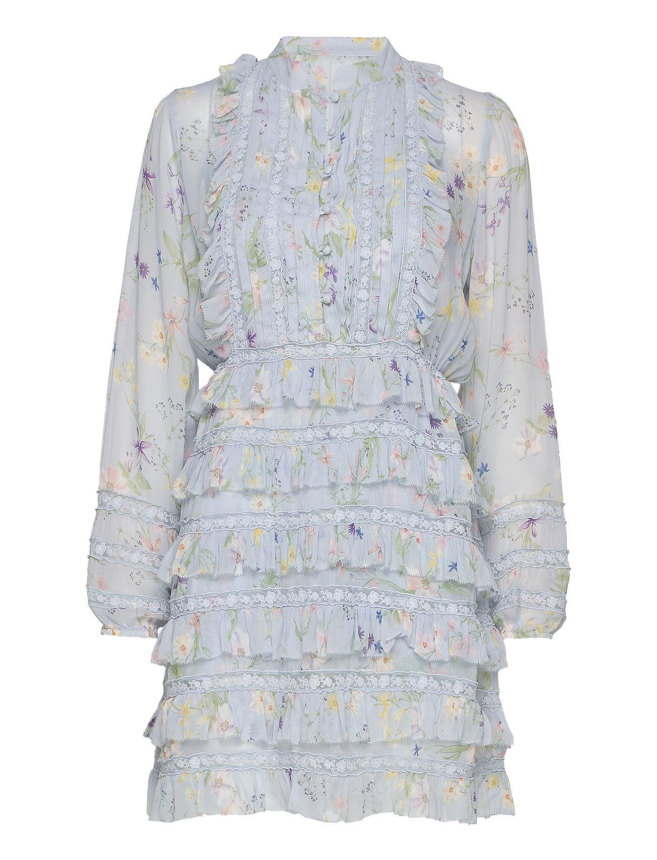 By Malina Freja Dress Polvipituinen Mekko Sininen By Malina