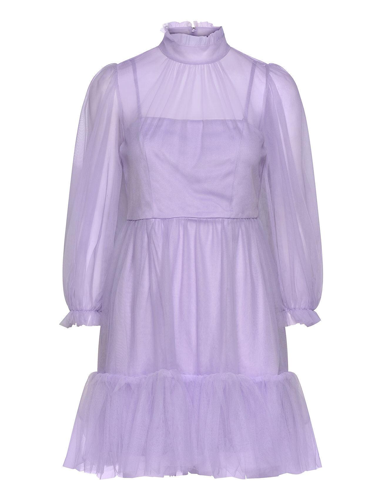 By Malina Melany Mini Dress Lyhyt Mekko Liila By Malina