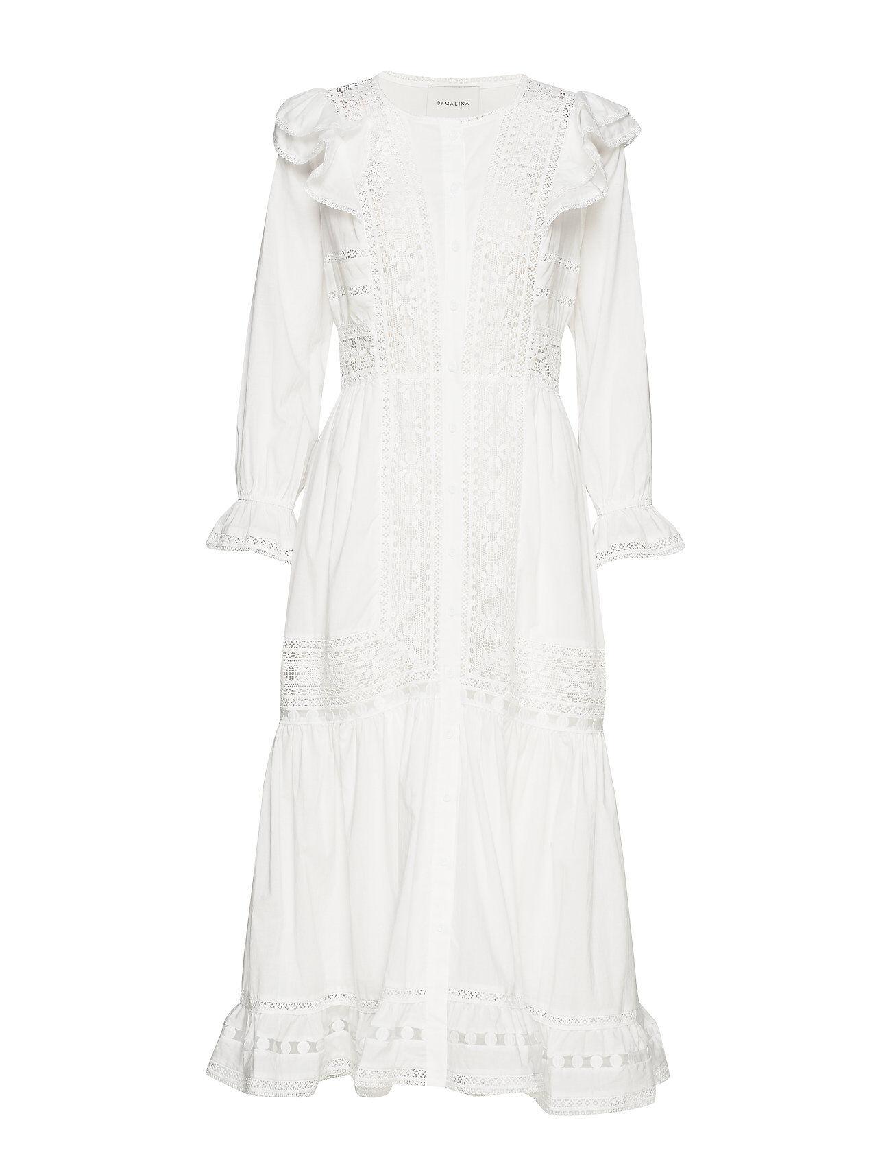 By Malina Calida Dress Polvipituinen Mekko Valkoinen By Malina