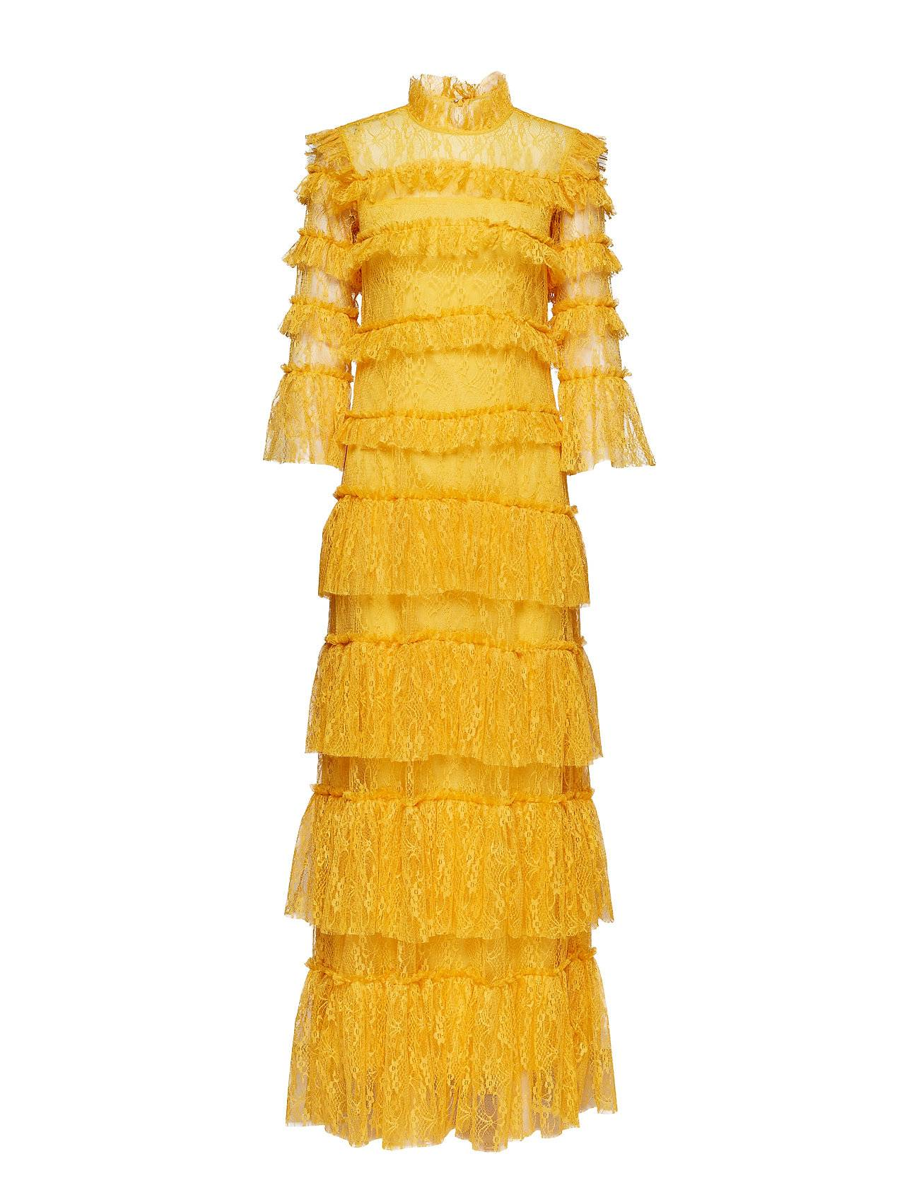 By Malina Carmine Maxi Dress Maksimekko Juhlamekko Keltainen By Malina