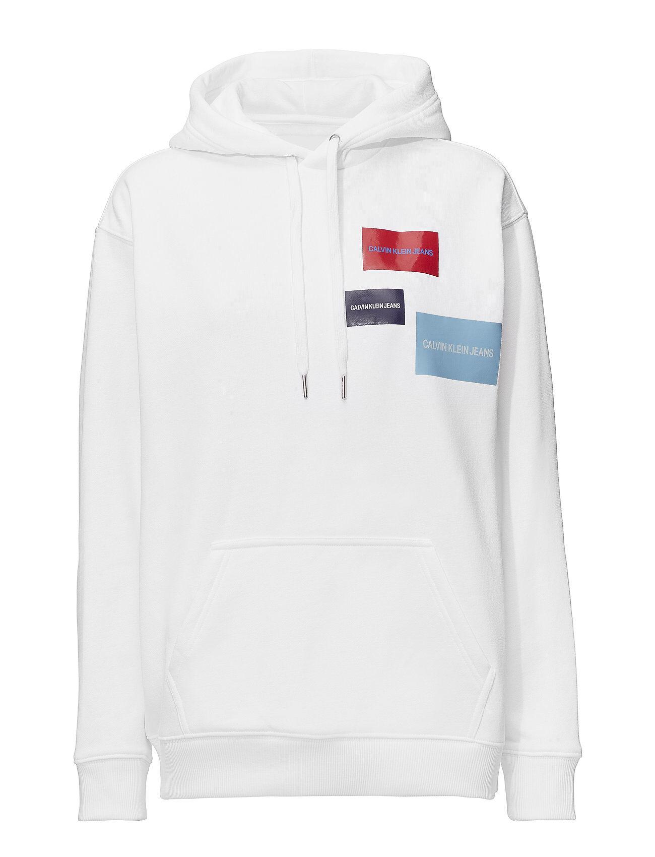 Image of Calvin Multi Logo Hoodie Huppari Valkoinen