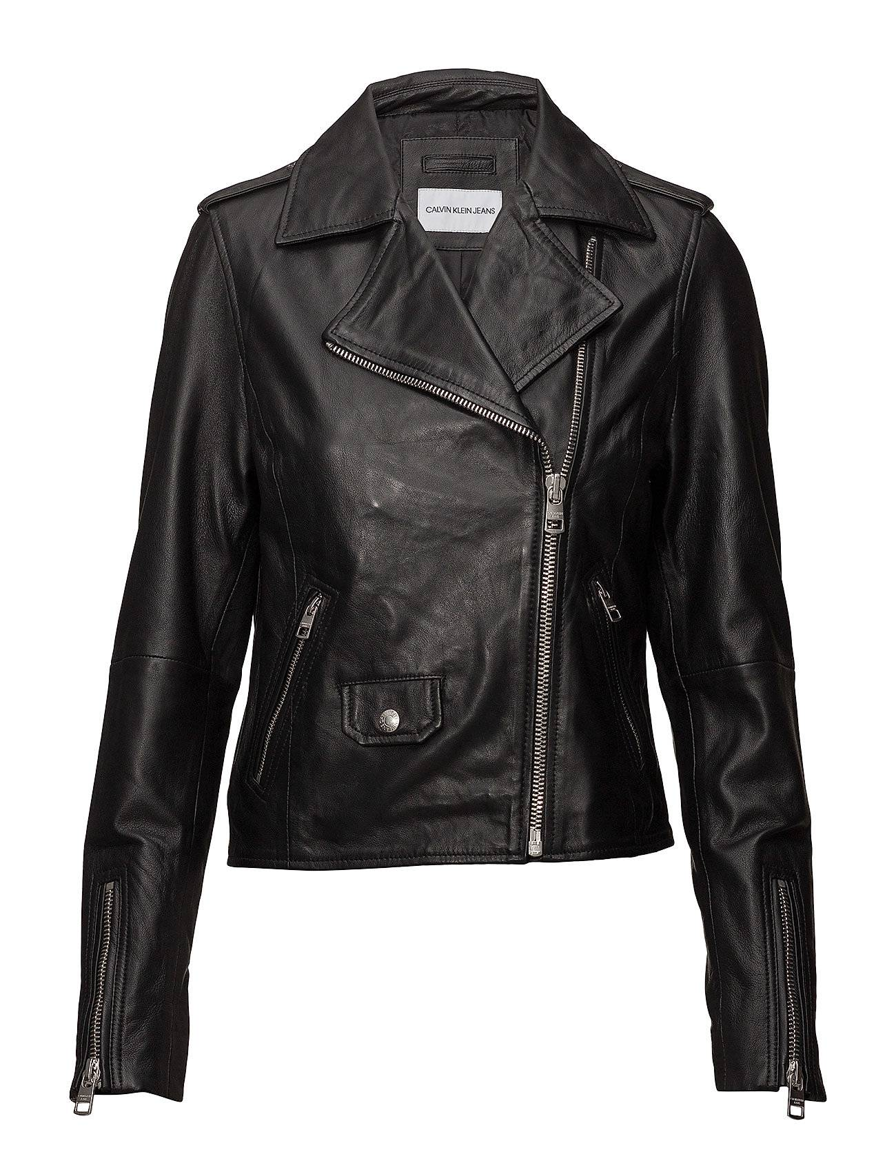 Calvin Leather Biker Jacket