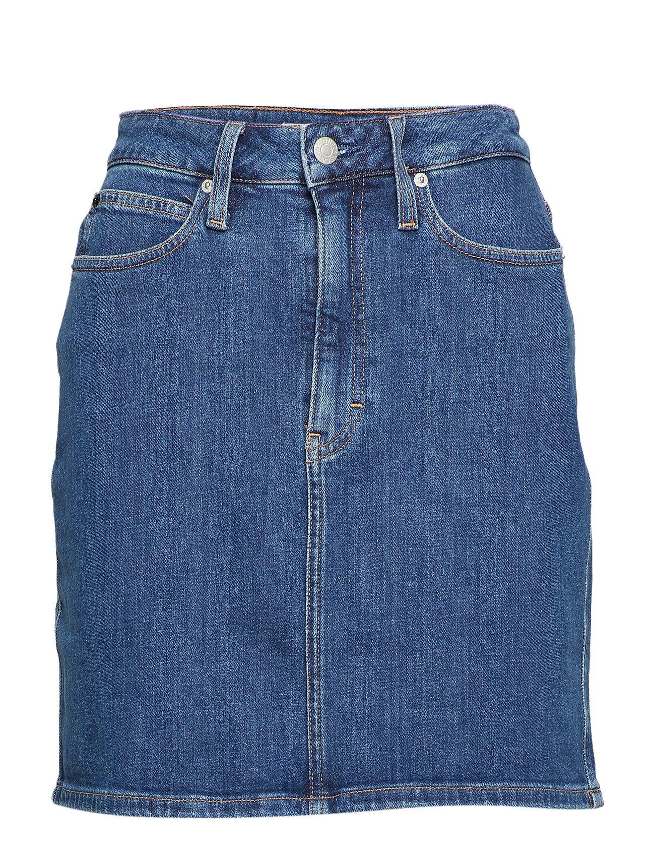 Image of Calvin Hr Mini Skirt Lyhyt Hame Sininen Calvin Klein Jeans