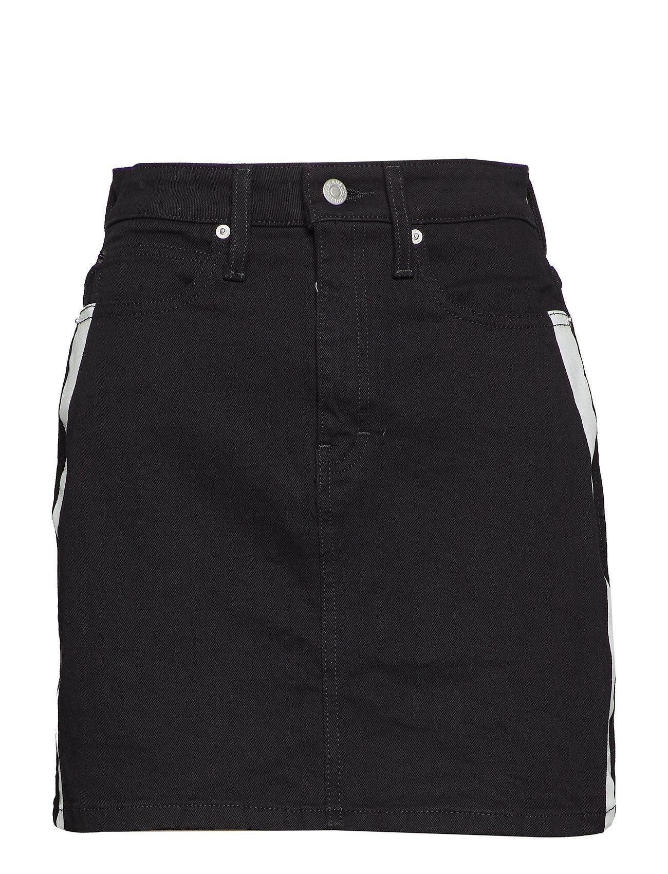 Image of Calvin Hr Mini Skirt Lyhyt Hame Musta Calvin Klein Jeans