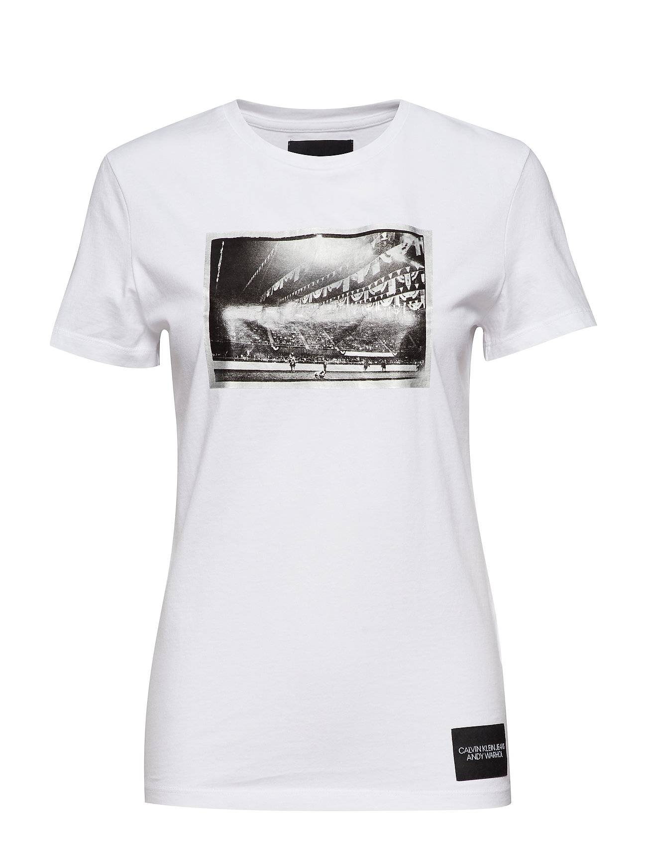 Image of Calvin Warhol Rodeo Ss T-shirts & Tops Short-sleeved Valkoinen Calvin Klein Jeans