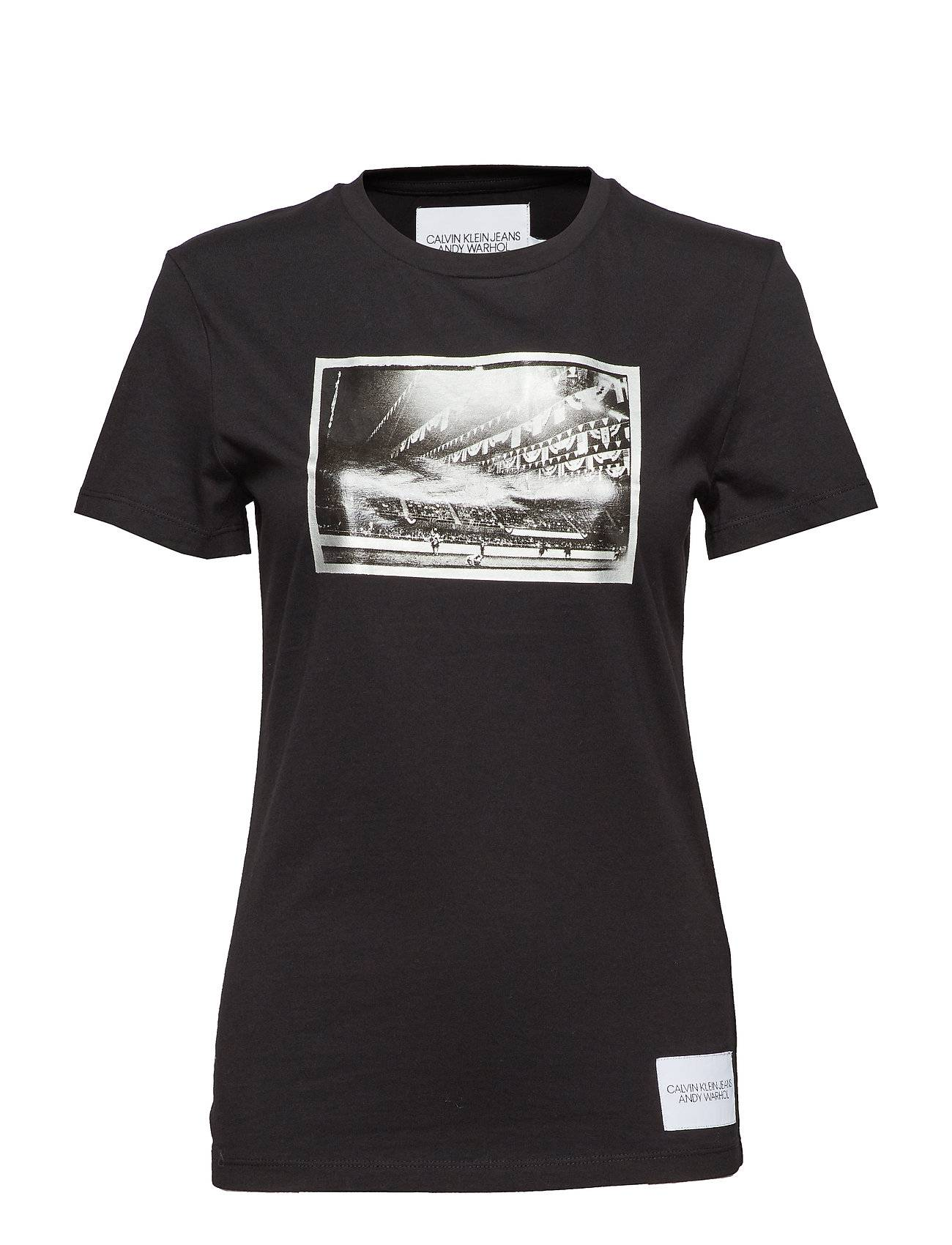 Image of Calvin Warhol Rodeo Ss T-shirts & Tops Short-sleeved Musta Calvin Klein Jeans