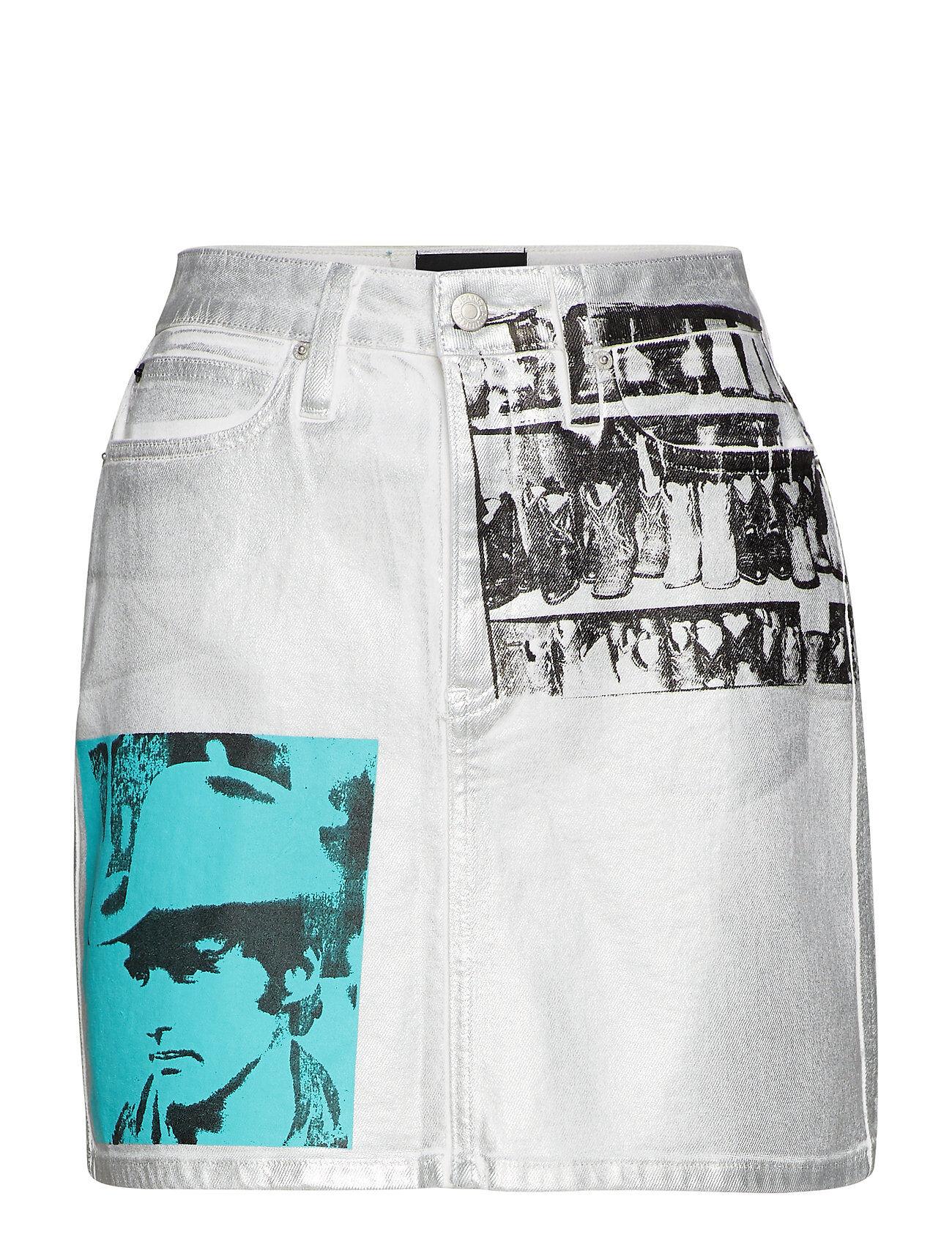 Image of Calvin High Rise Mini Skirt Lyhyt Hame Sininen Calvin Klein Jeans