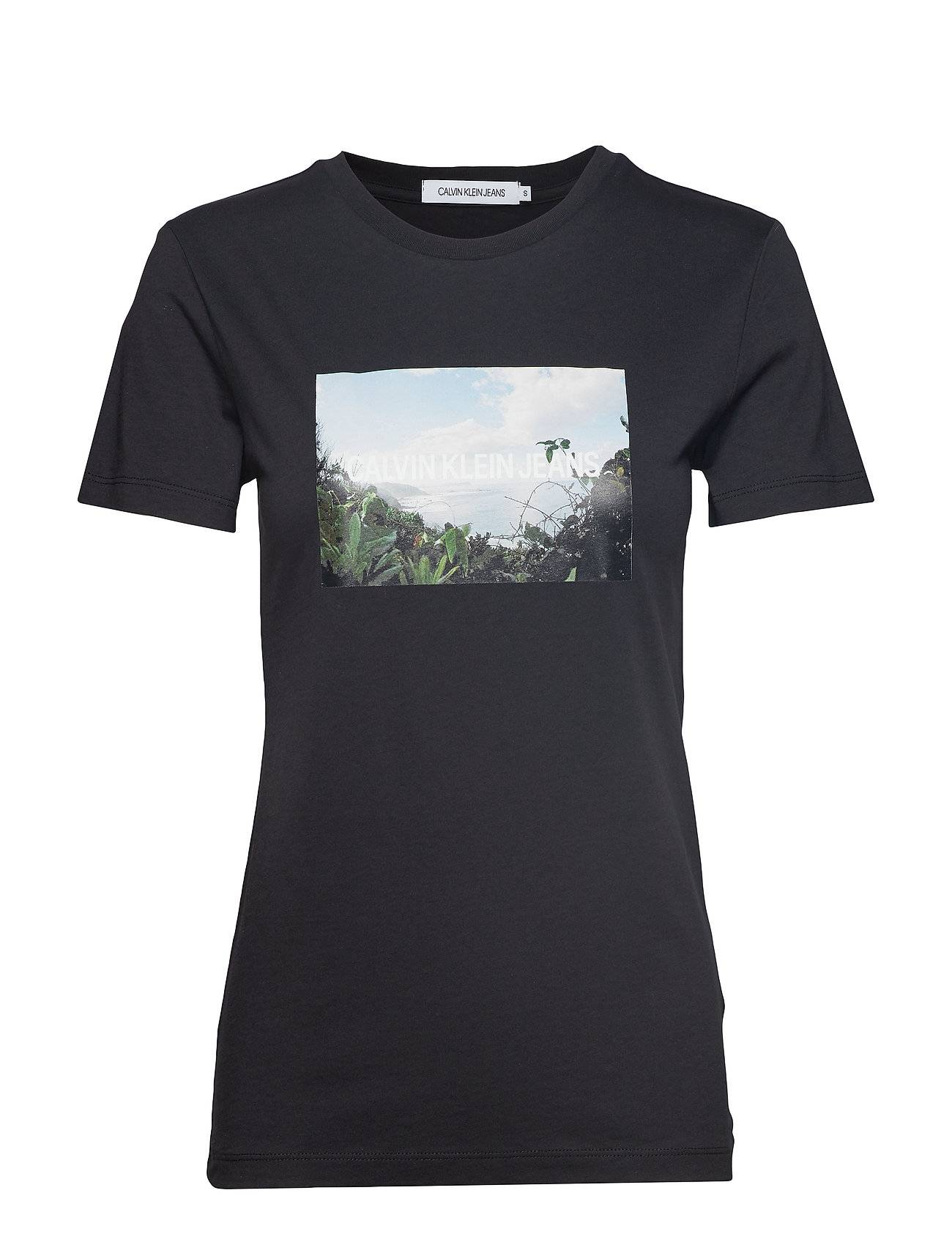Image of Calvin Photo Print Modern S T-shirts & Tops Short-sleeved Musta Calvin Klein Jeans