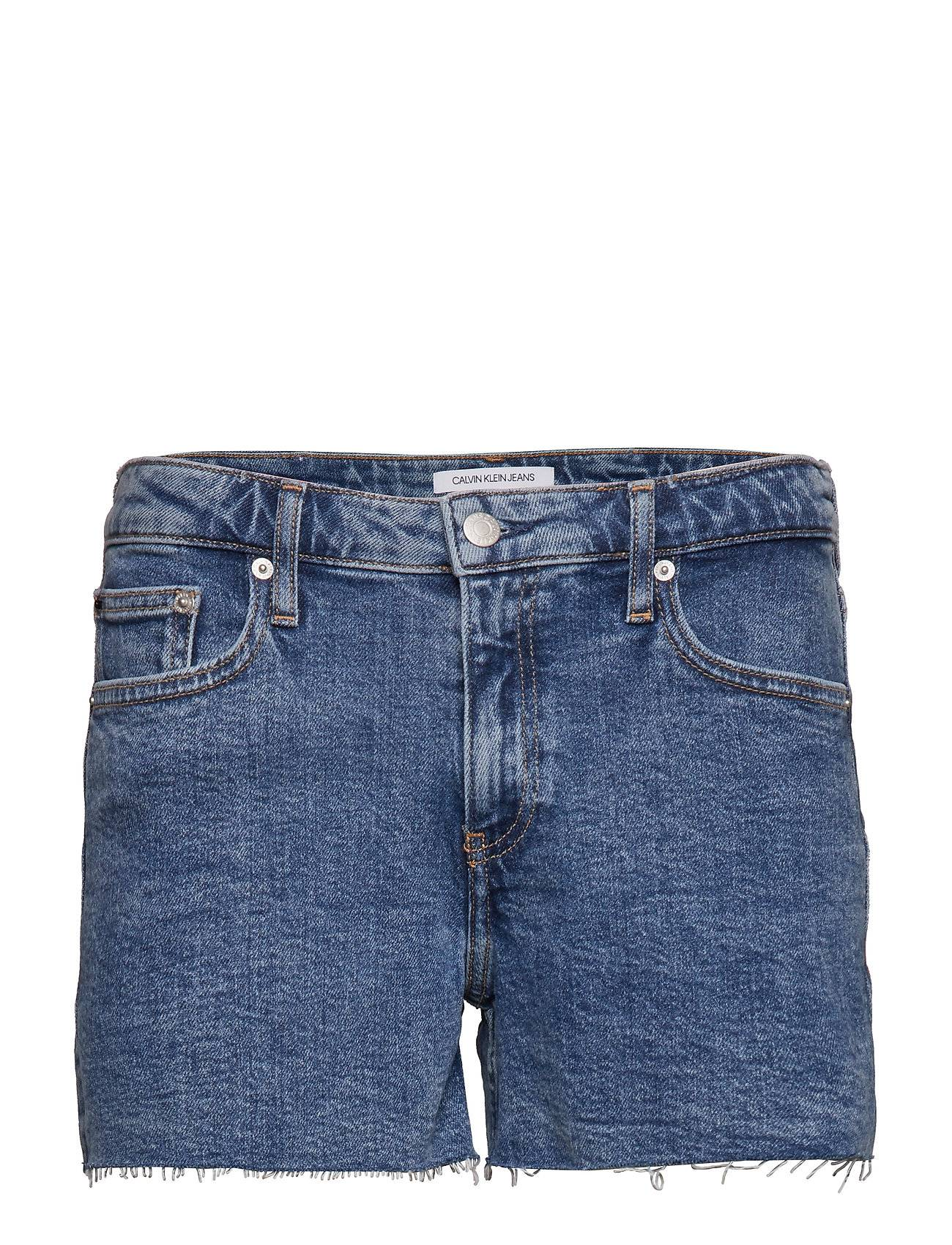 Image of Calvin Mid Rise Weekend Sho Shorts Denim Shorts Sininen Calvin Klein Jeans