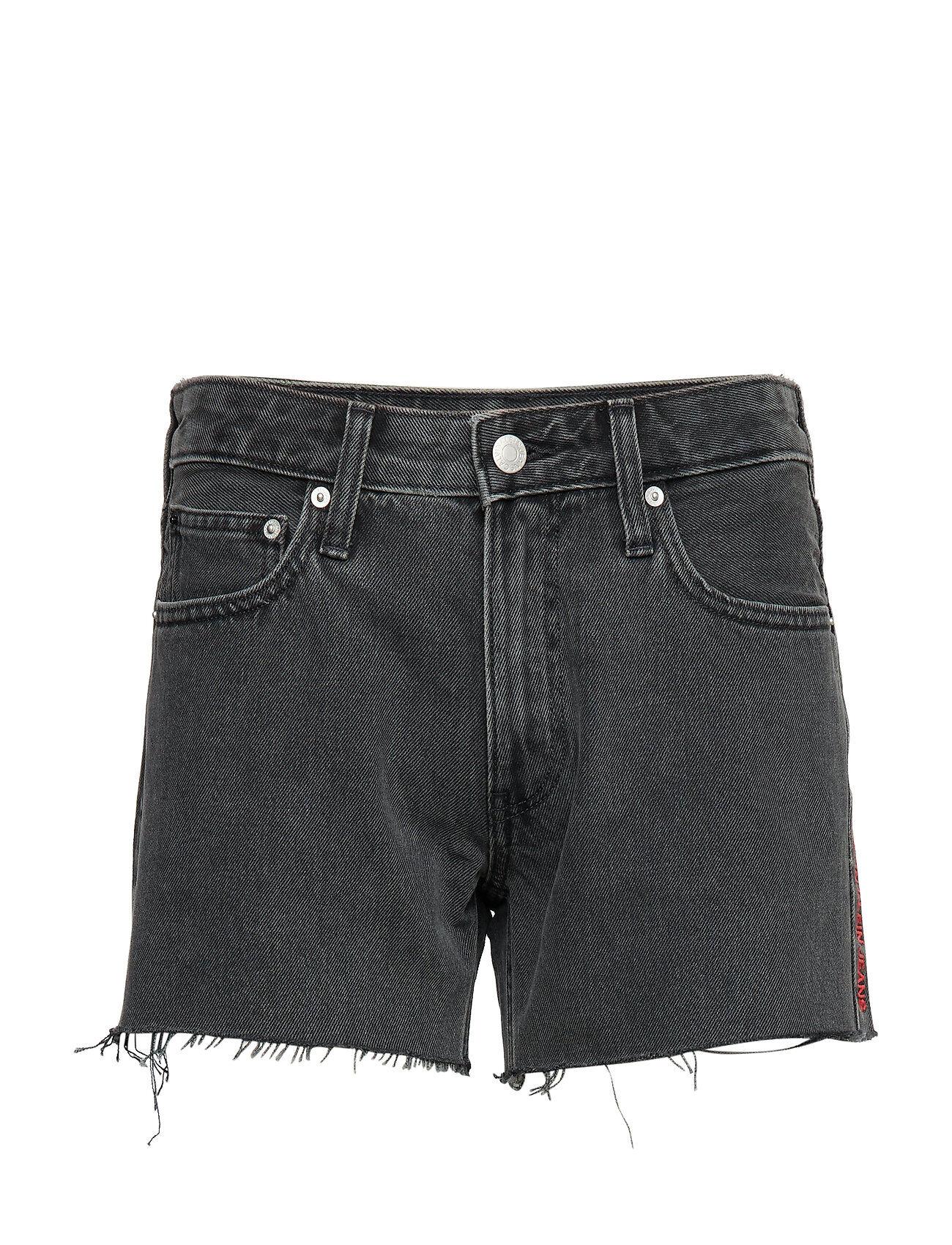 Image of Calvin Mid Rise Weekend Short Shorts Denim Shorts Harmaa Calvin Klein Jeans