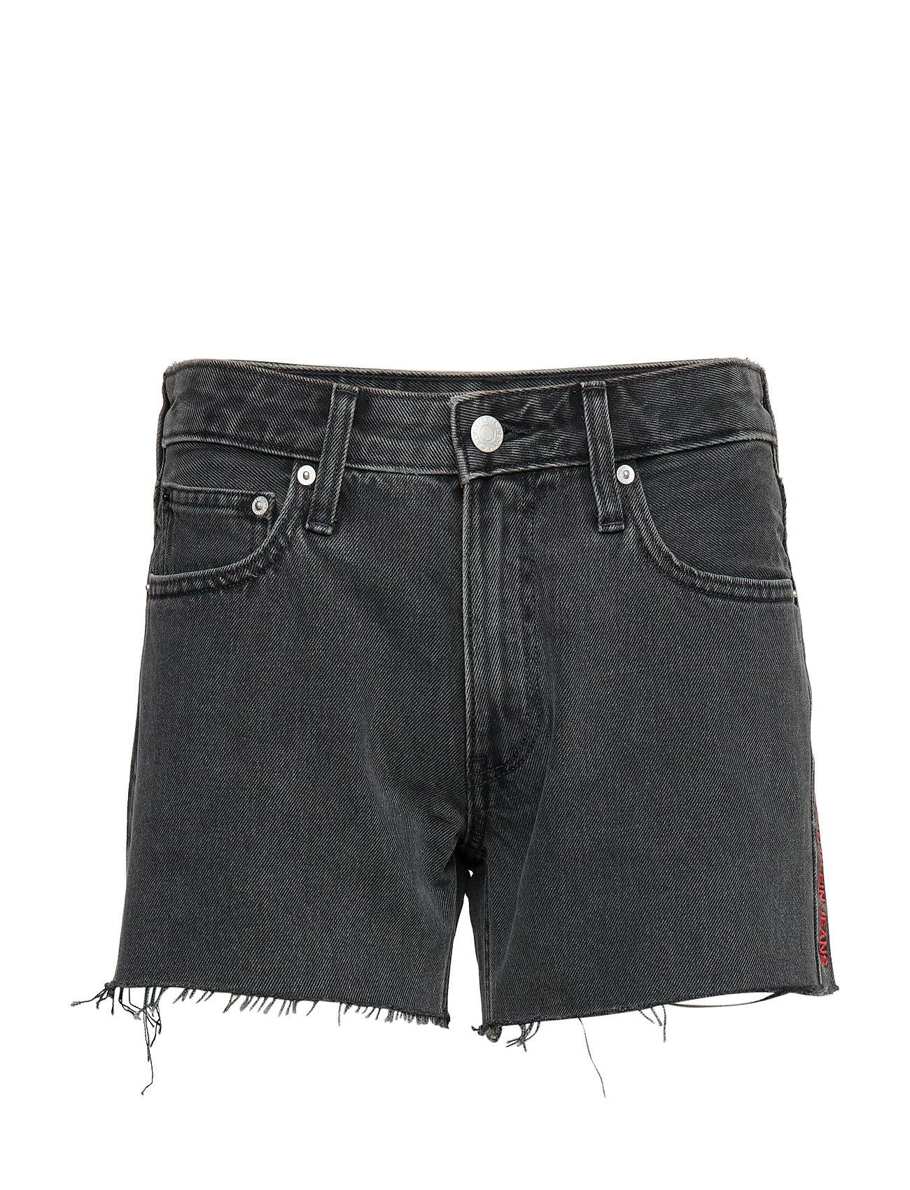 Image of Calvin Mid Rise Weekend Short Shorts Denim Shorts Harmaa Calvin Klein Jeans