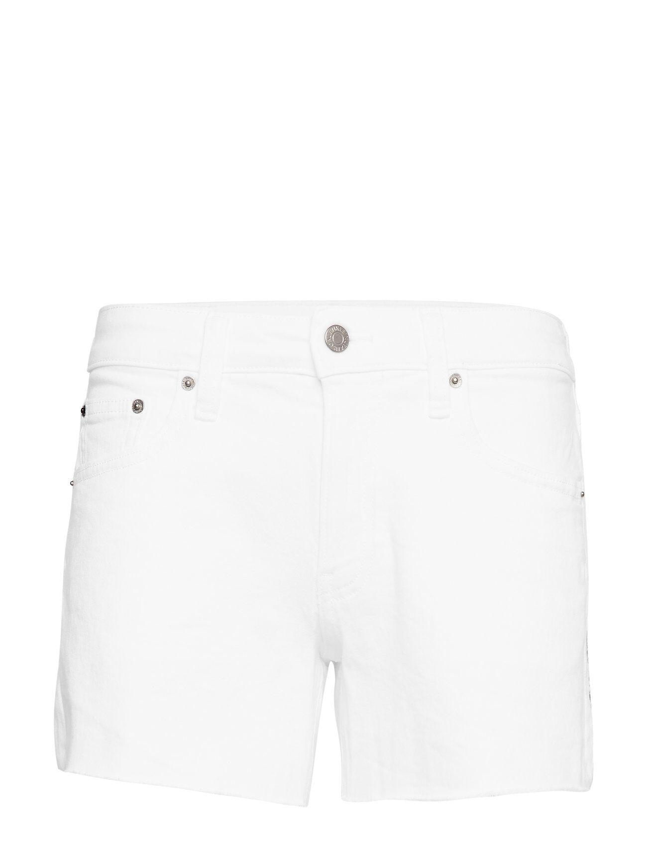 Image of Calvin Mid Rise Weekend Short Shorts Denim Shorts Valkoinen Calvin Klein Jeans