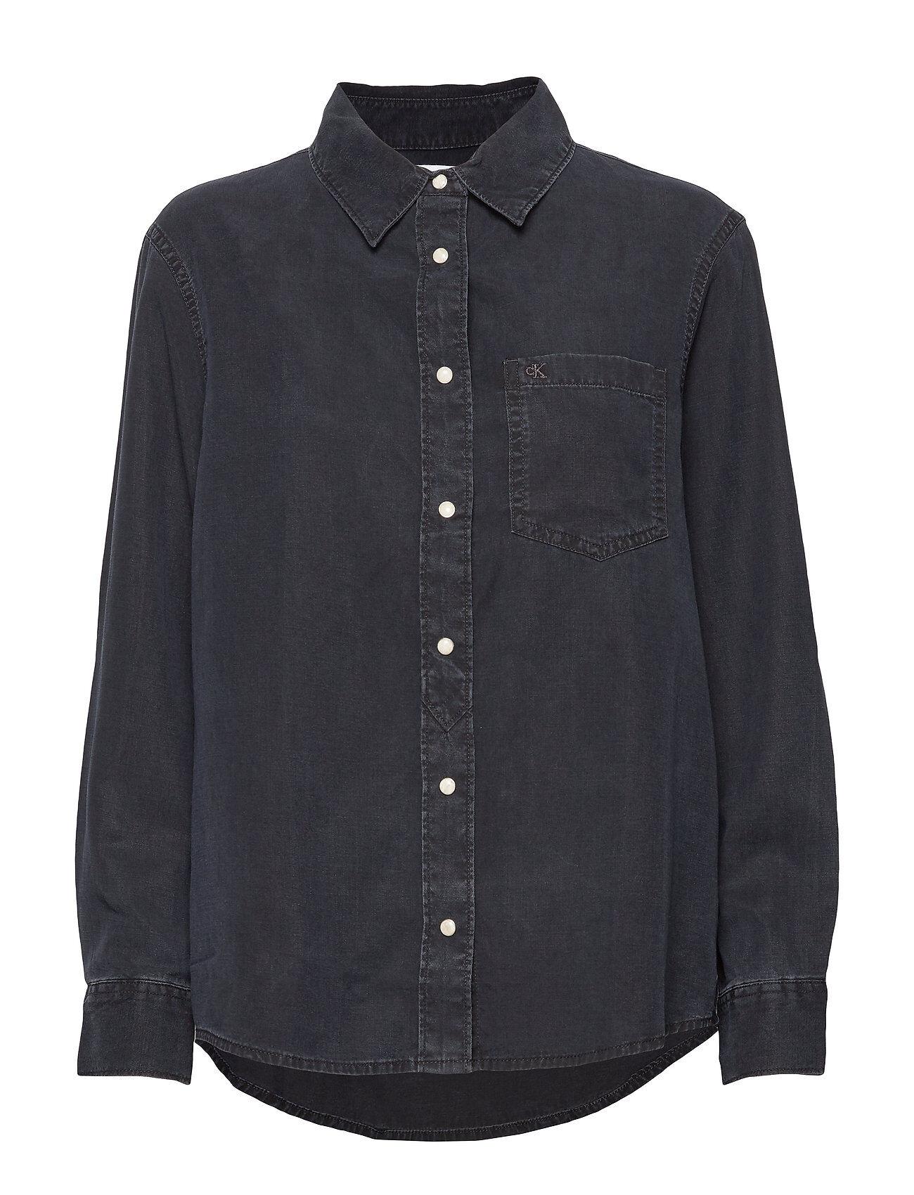 Image of Calvin Boy Shirt Pitkähihainen Paita Sininen Calvin Klein Jeans