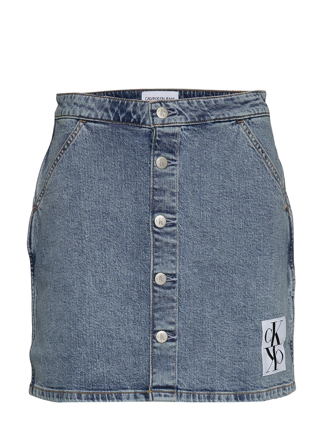 Image of Calvin Button Down Utility Skirt Lyhyt Hame Sininen Calvin Klein Jeans