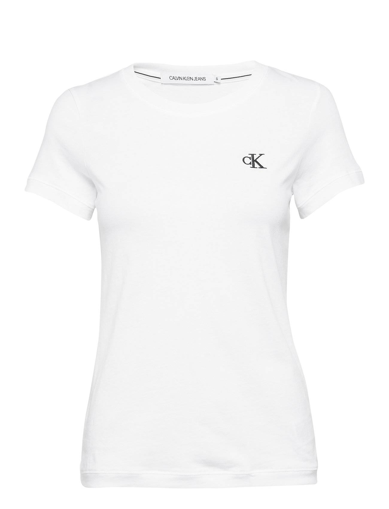 Image of Calvin Ck Embroidery Slim Tee T-shirts & Tops Short-sleeved Valkoinen Calvin Klein Jeans