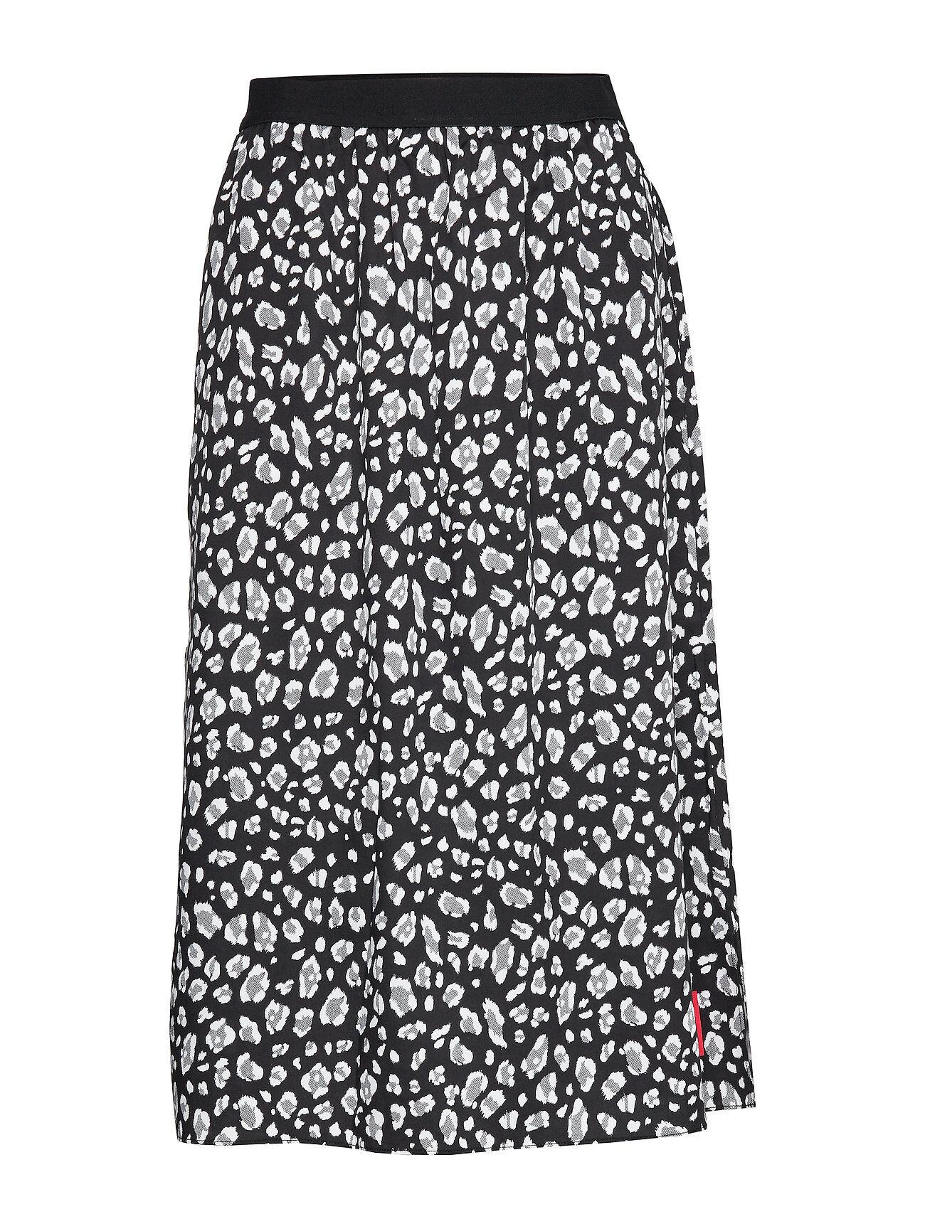 Image of Calvin Animal Print Midi Skirt Polvipituinen Hame Monivärinen/Kuvioitu Calvin Klein Jeans