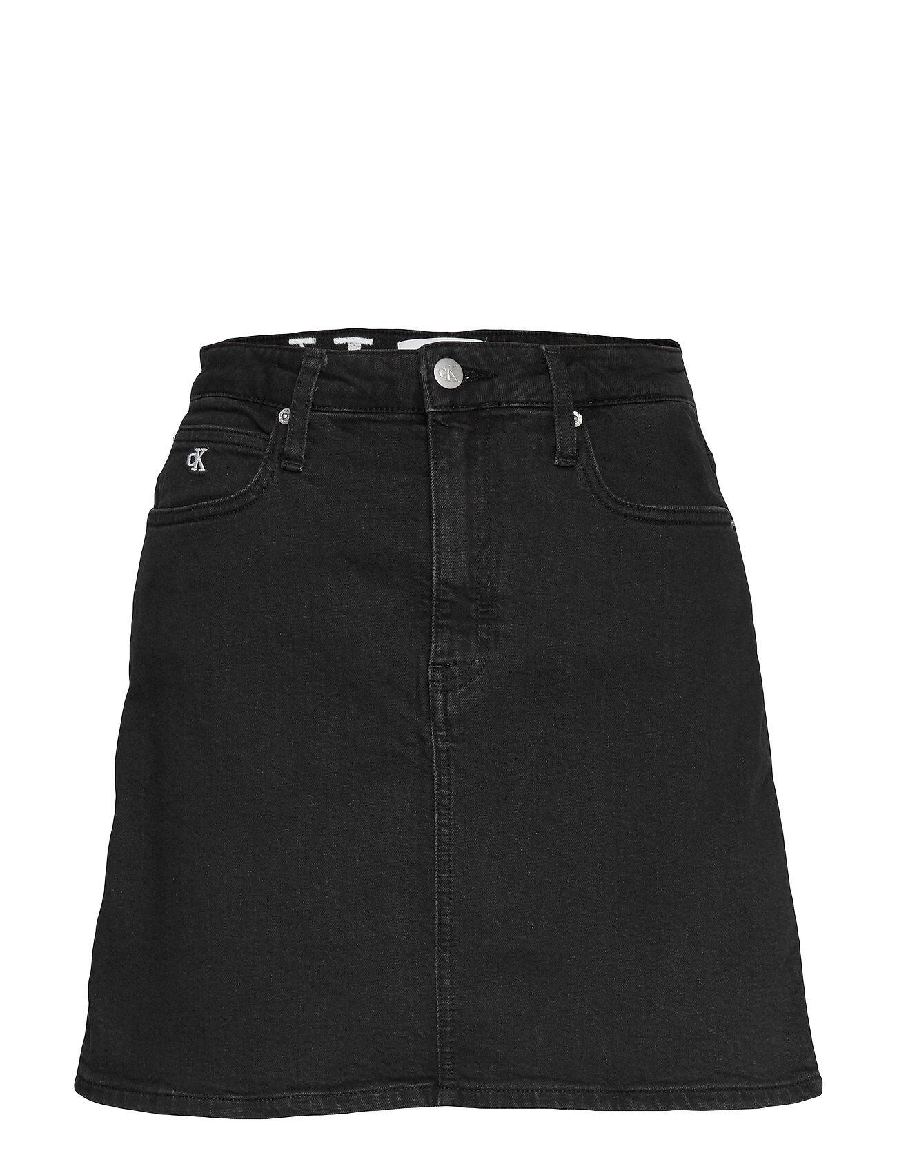 Image of Calvin High Rise Mini Skirt Lyhyt Hame Musta Calvin Klein Jeans