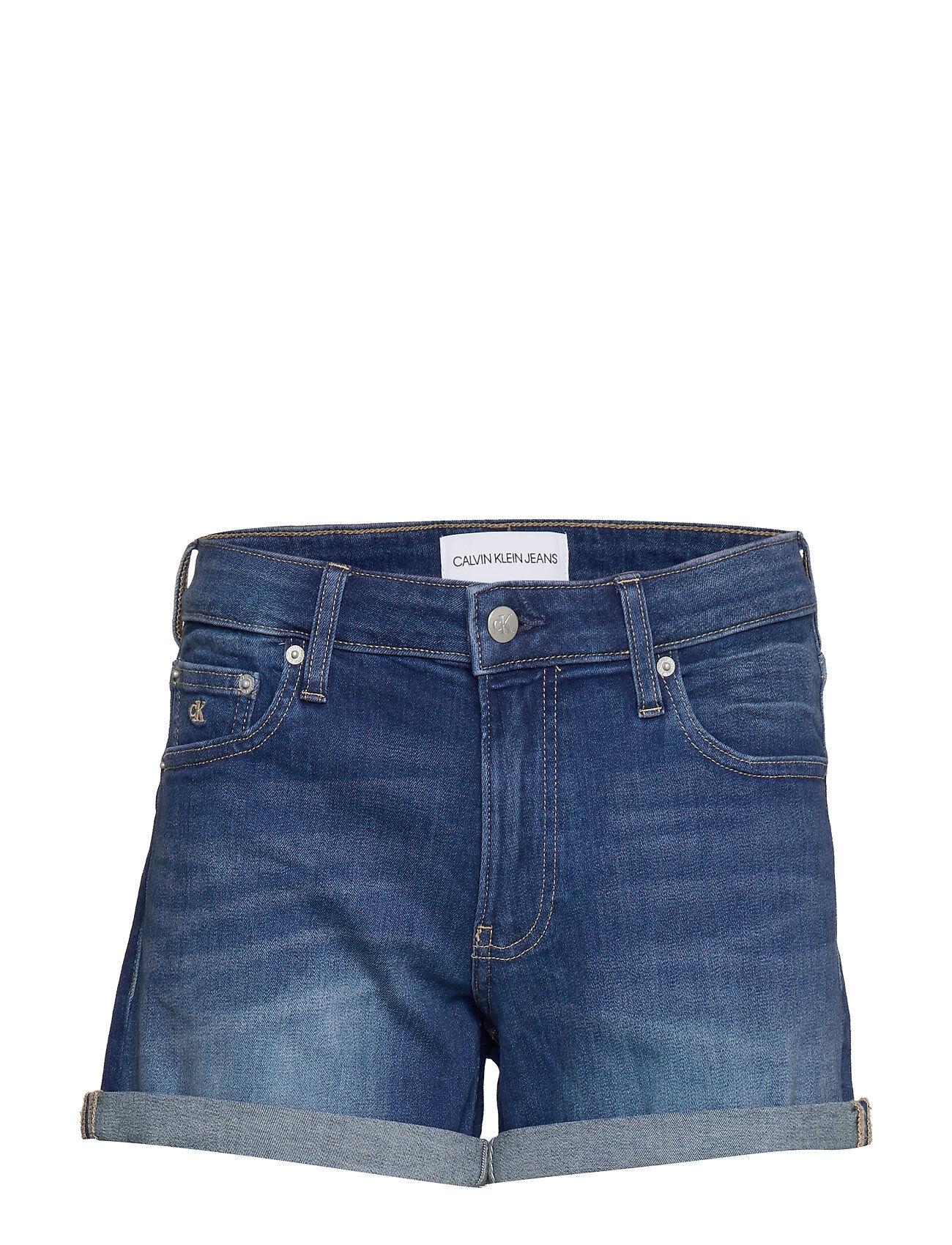 Image of Calvin Mid Rise Short Shorts Denim Shorts Sininen Calvin Klein Jeans