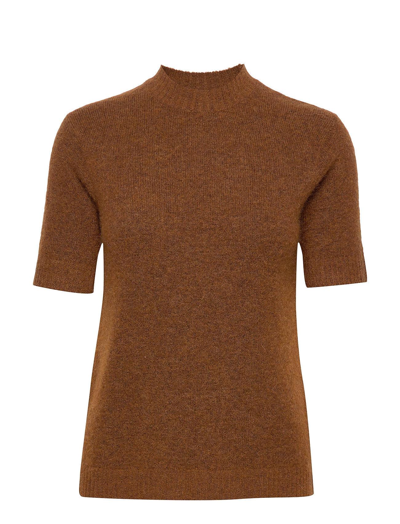 Camilla Pihl Rome T-shirts & Tops Knitted T-shirts/tops Ruskea Camilla Pihl