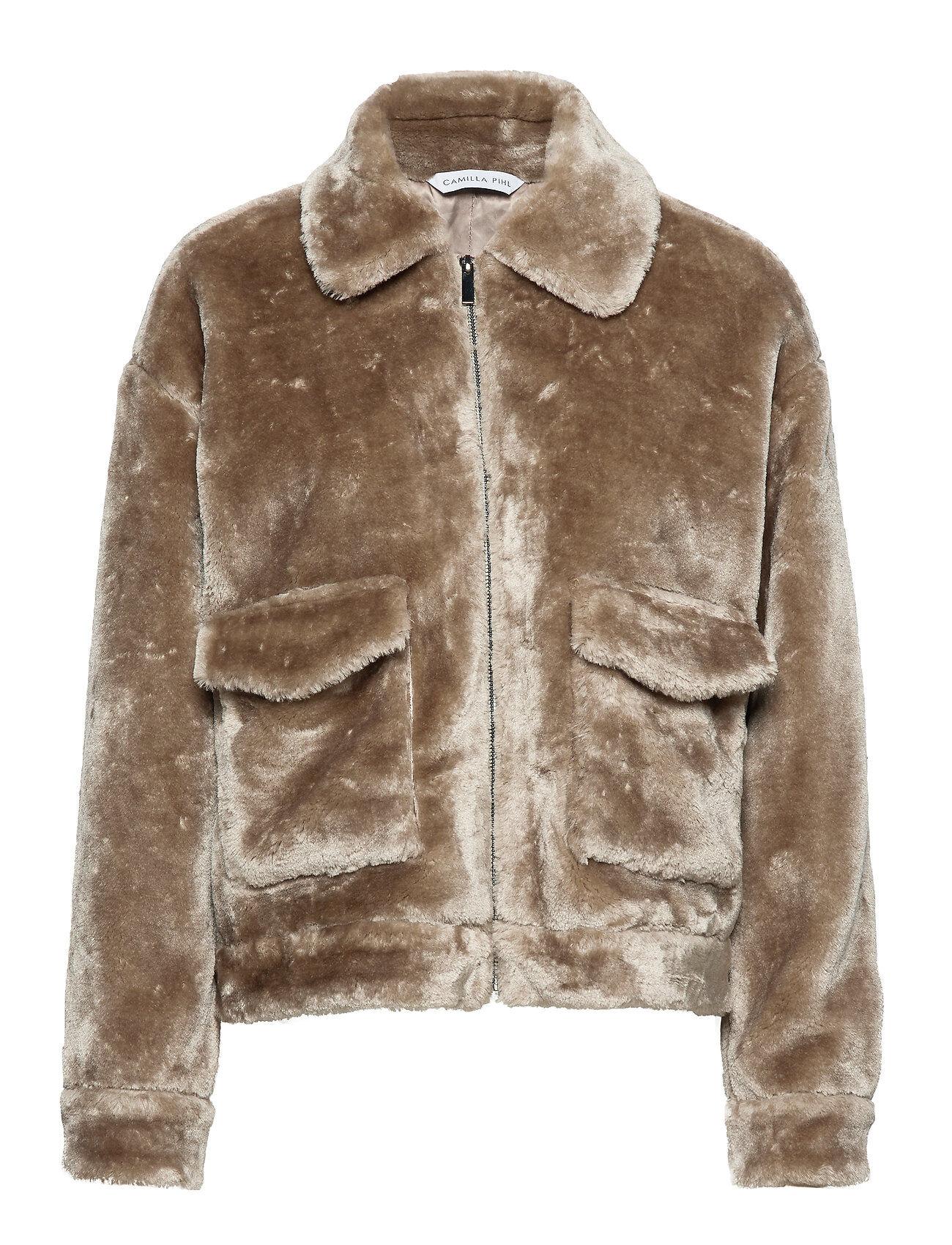 Camilla Pihl Teddy Outerwear Faux Fur Ruskea Camilla Pihl