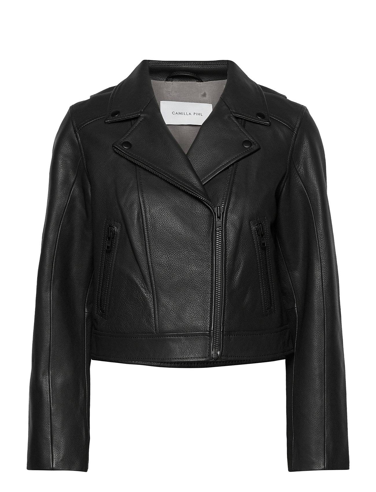 Camilla Pihl Soho Leather Jacket Nahkatakki Musta Camilla Pihl