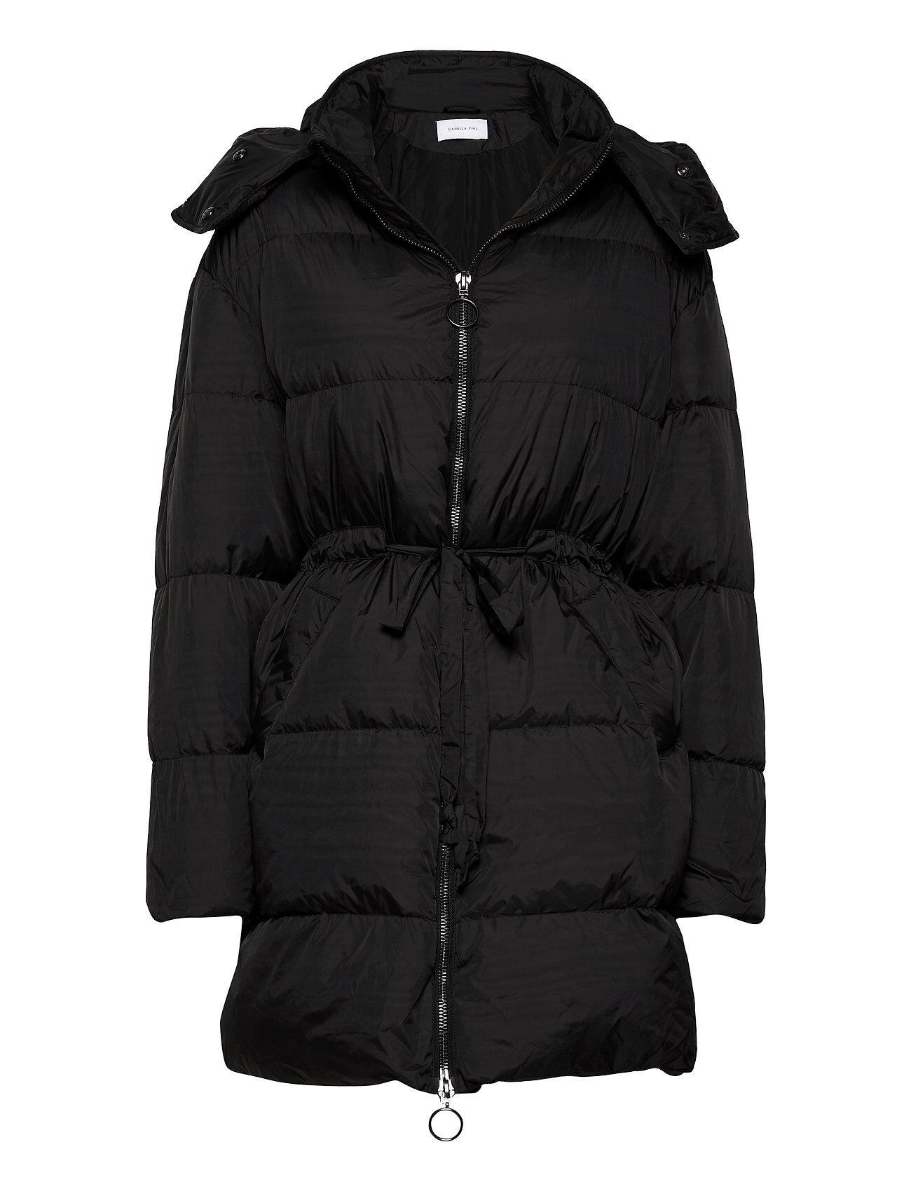 Camilla Pihl Cloud Jacket Vuorillinen Takki Topattu Takki Musta Camilla Pihl