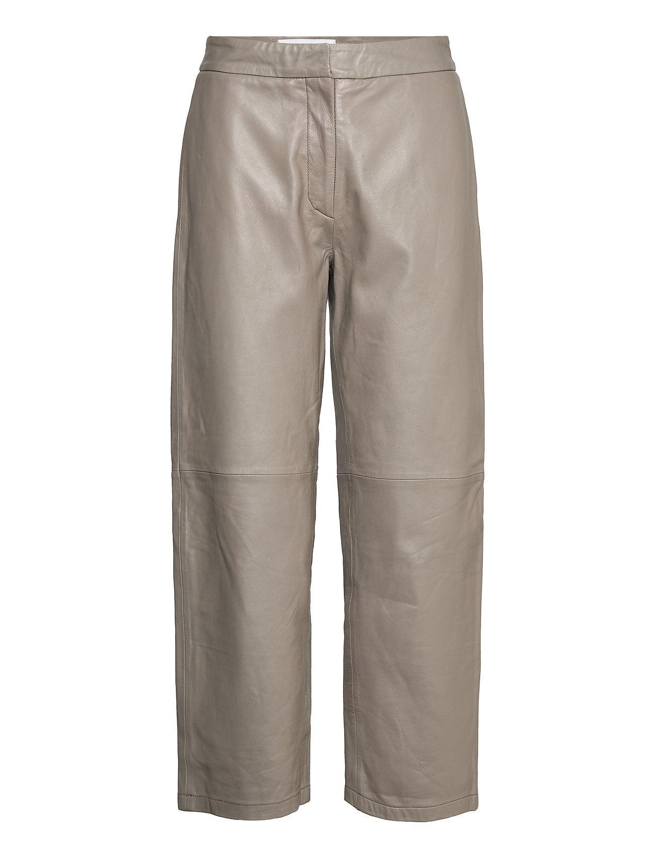 Camilla Pihl Rimo Leather Trouser Leather Leggings/Housut Harmaa Camilla Pihl