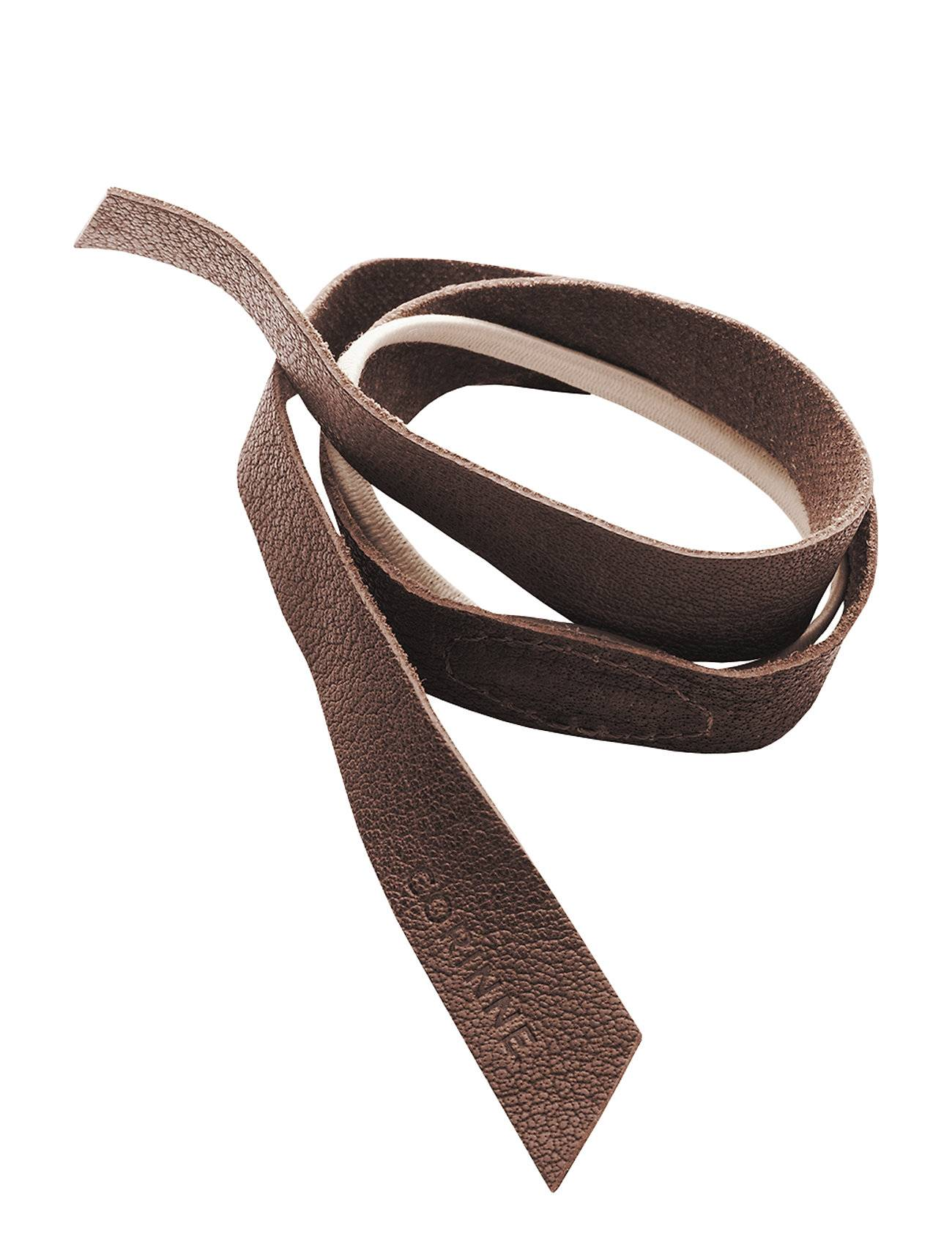 Image of Corinne Leather Band Short Layer Accessories Hair Hair Accessories Ruskea Corinne