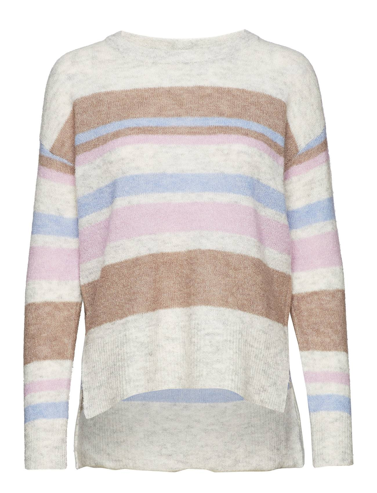 Cream Zoey Stripes Knit Pullover