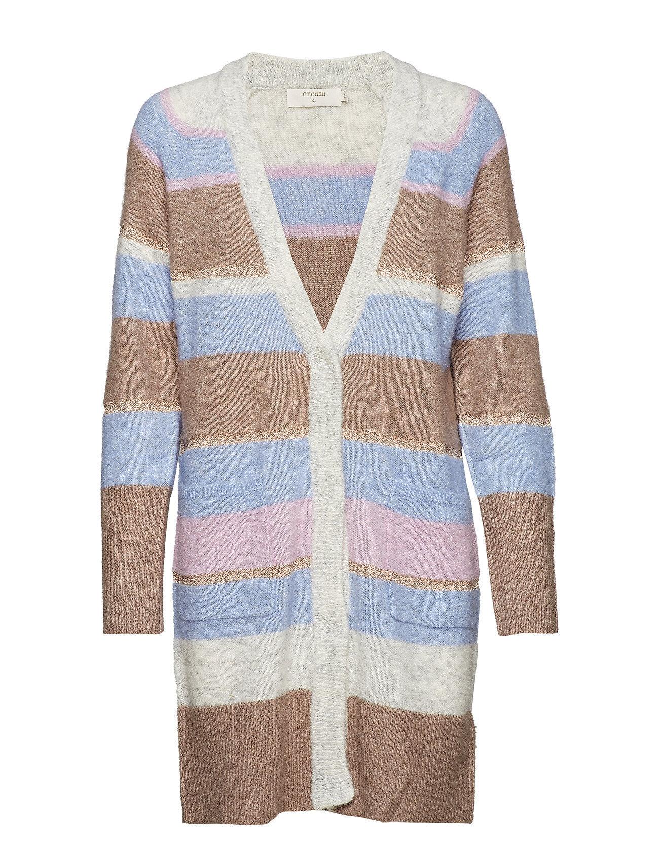 Cream Zoey Stripes Cardigan