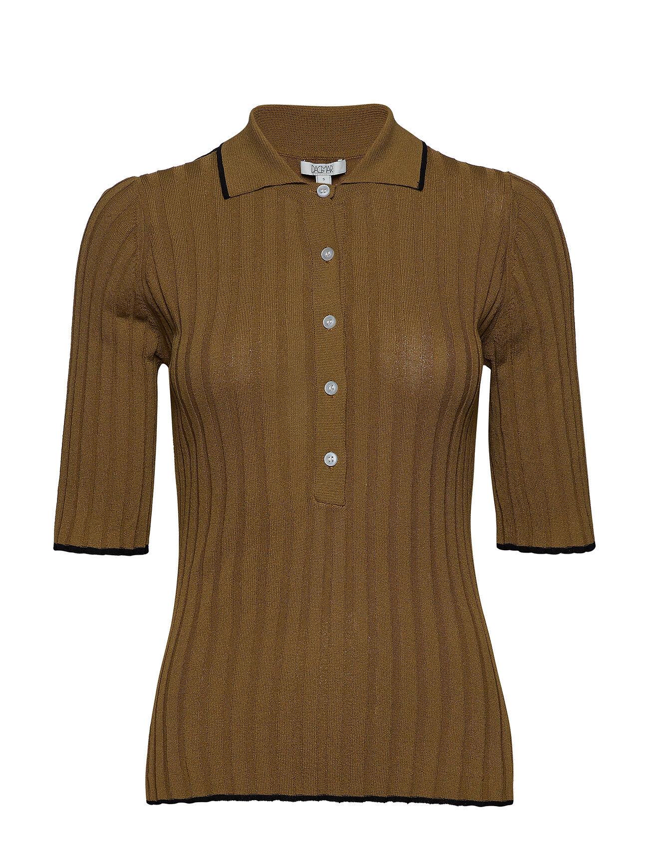 Dagmar Ella T-shirts & Tops Short-sleeved Ruskea Dagmar