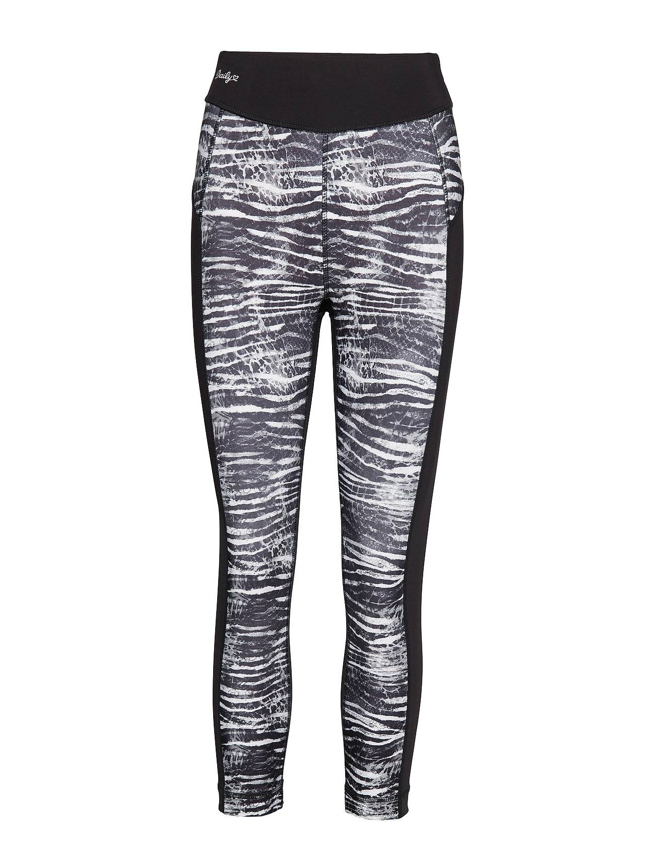 Image of Daily Sports Zebrami Crop Running/training Tights Musta Daily Sports